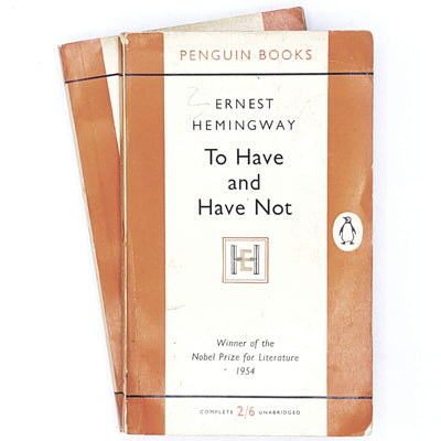 orange-penguin-ernest-hemingway-collection-vintage-book-country-house-library