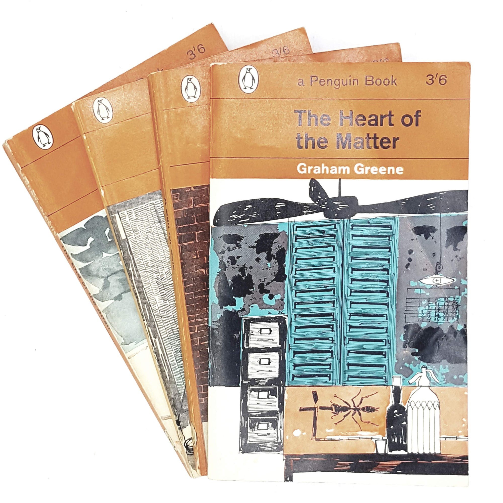 Collection Graham Greene Classic Orange Penguin set 1962 - 1965