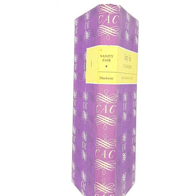 vanity-fair-decorative-thrift-country-house-library-thackeray-purple-vintage-literature-books-1965-old-classic-