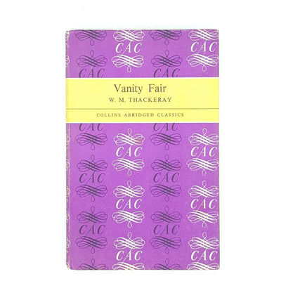 Vanity Fair by W. M. Thackeray Collins Abridged Classics Edition 1965