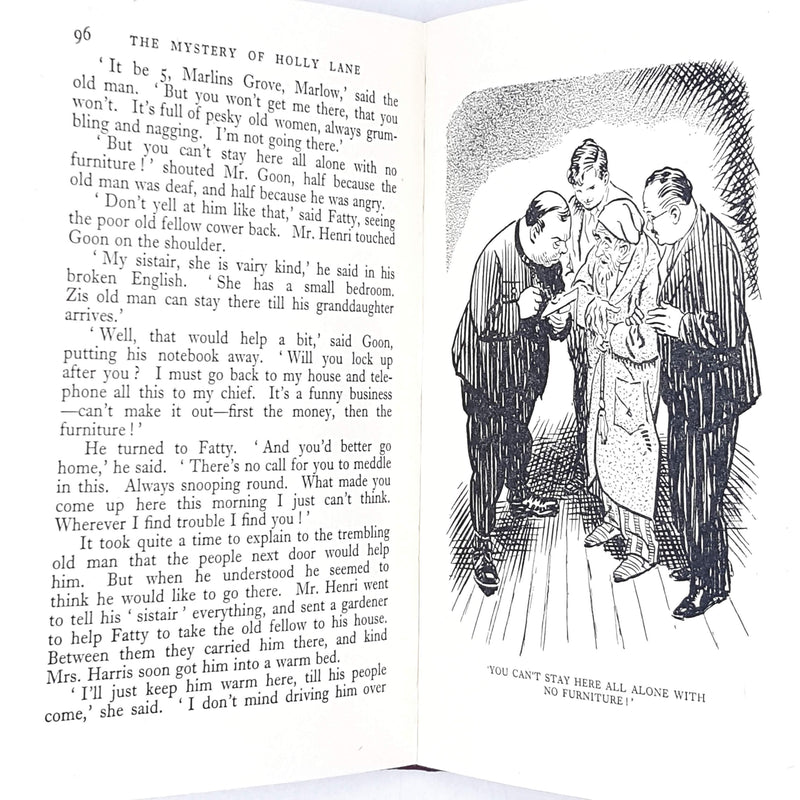 First Edition Enid Blyton's The Mystery of Holly Lane 1953