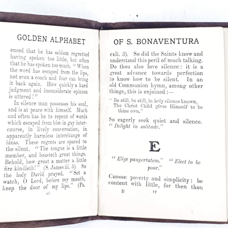 Red Leather: The Golden Alphabet of S. Bonaventura c1912
