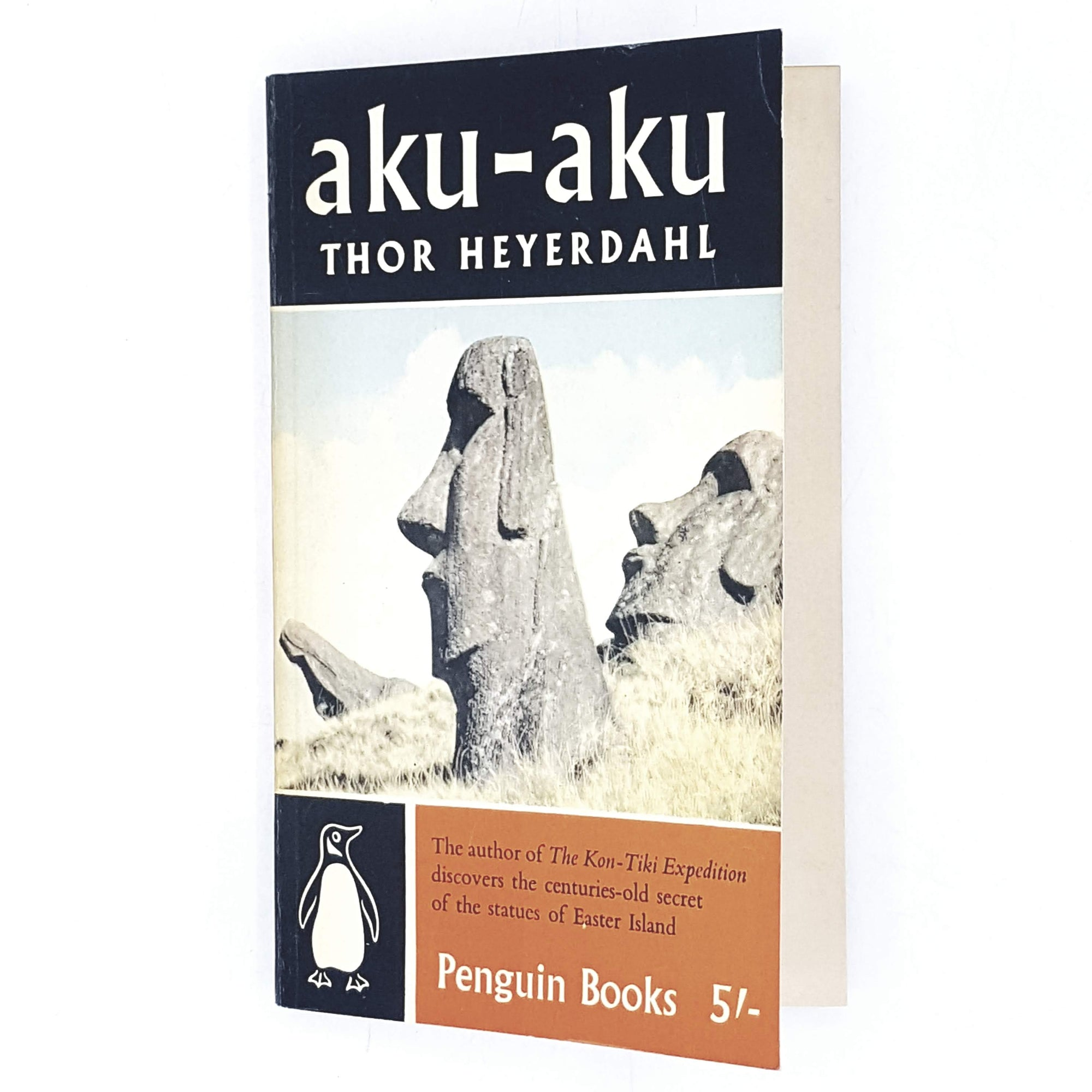 Illustrated Penguin Aku-Aku by Thor Heyerdahl 1958
