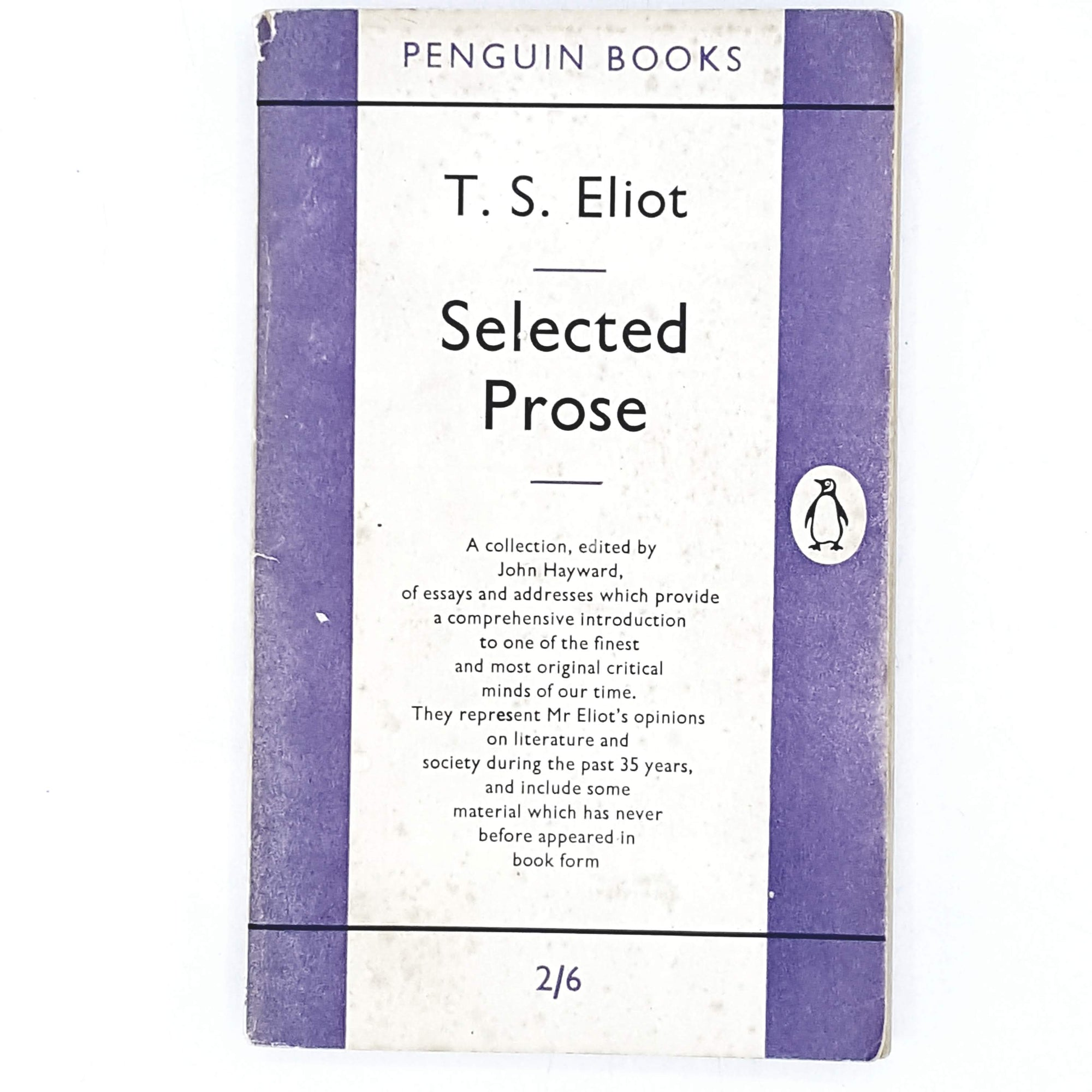 T. S. Eliot's Selected Prose 1955