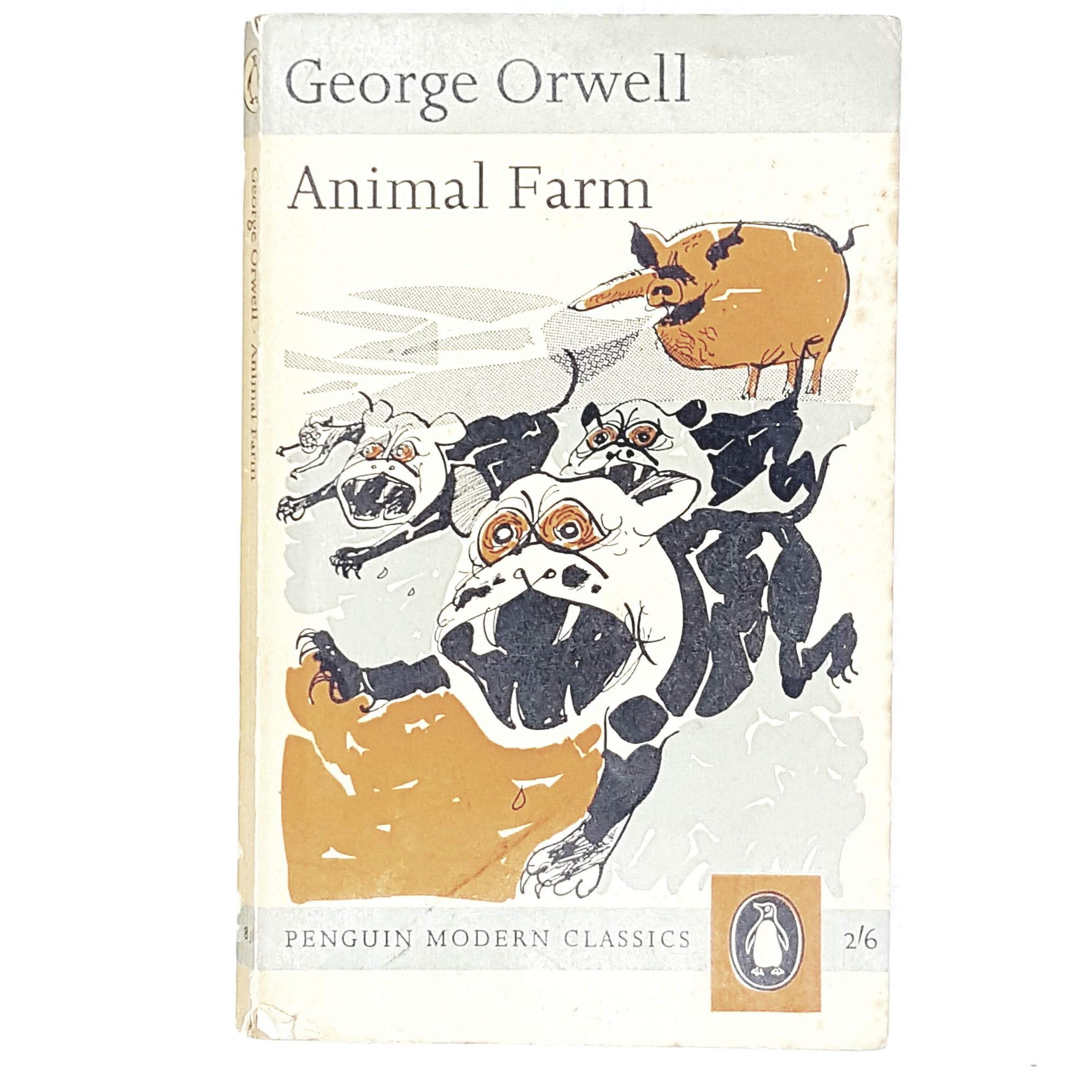 george-orwell-grey-vintage-penguin-country-house-library