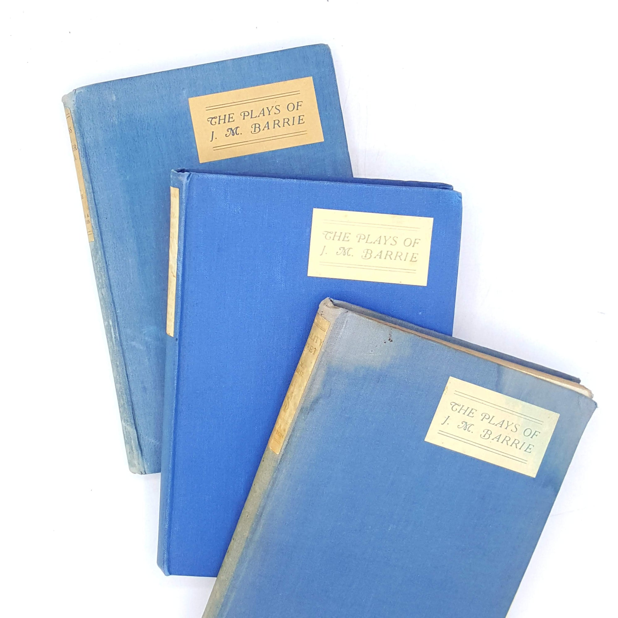 jmbarrie-classics-blue-rare-vintage-books-country-house-library-thrift-plays-collection-old-collection-