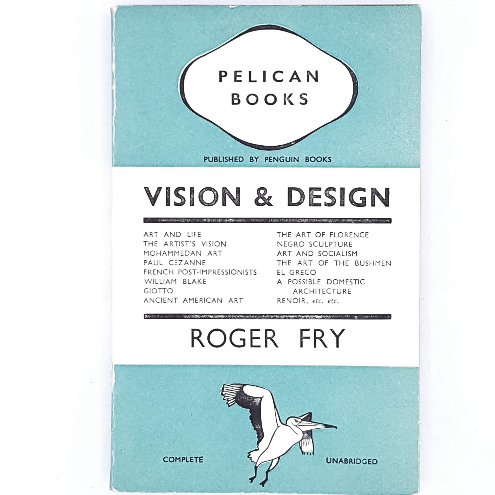 First Edition Pelican Vision & Design by Roger Fry 1937