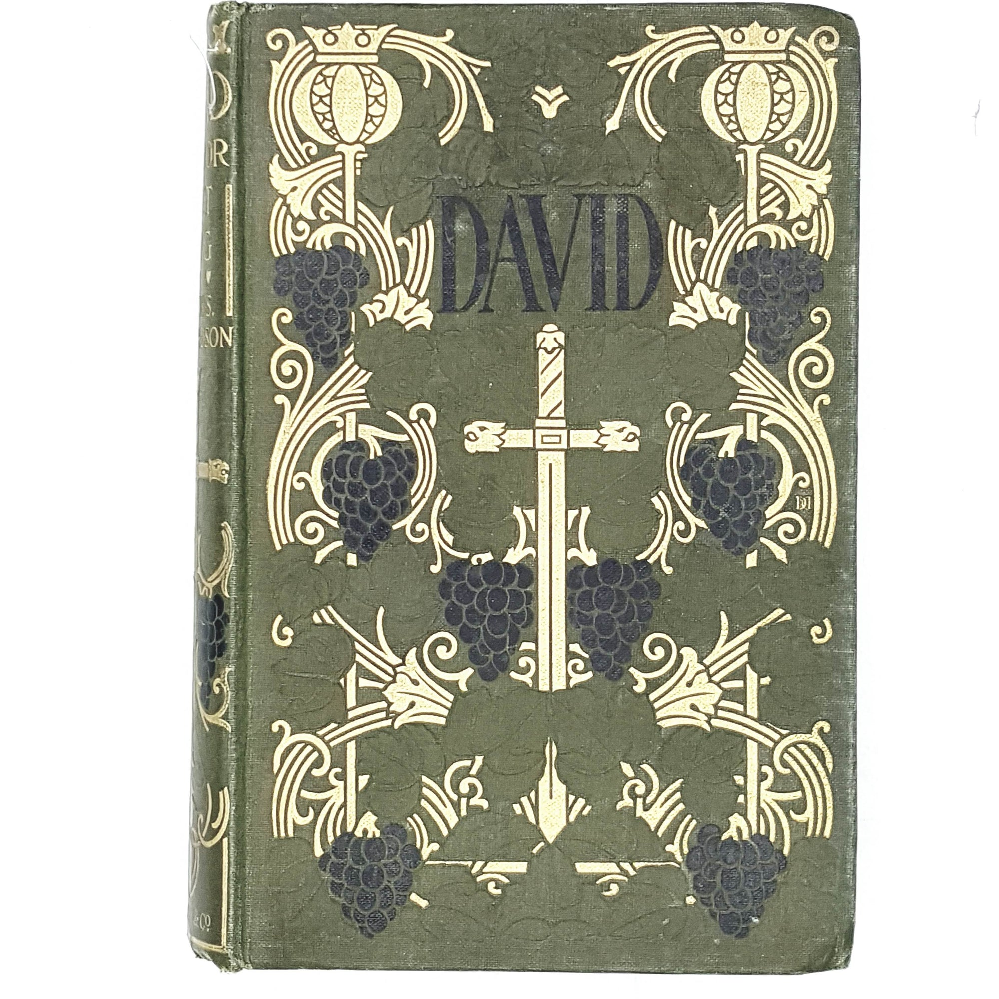 green-david-warrior-vintage-book-country-house-library