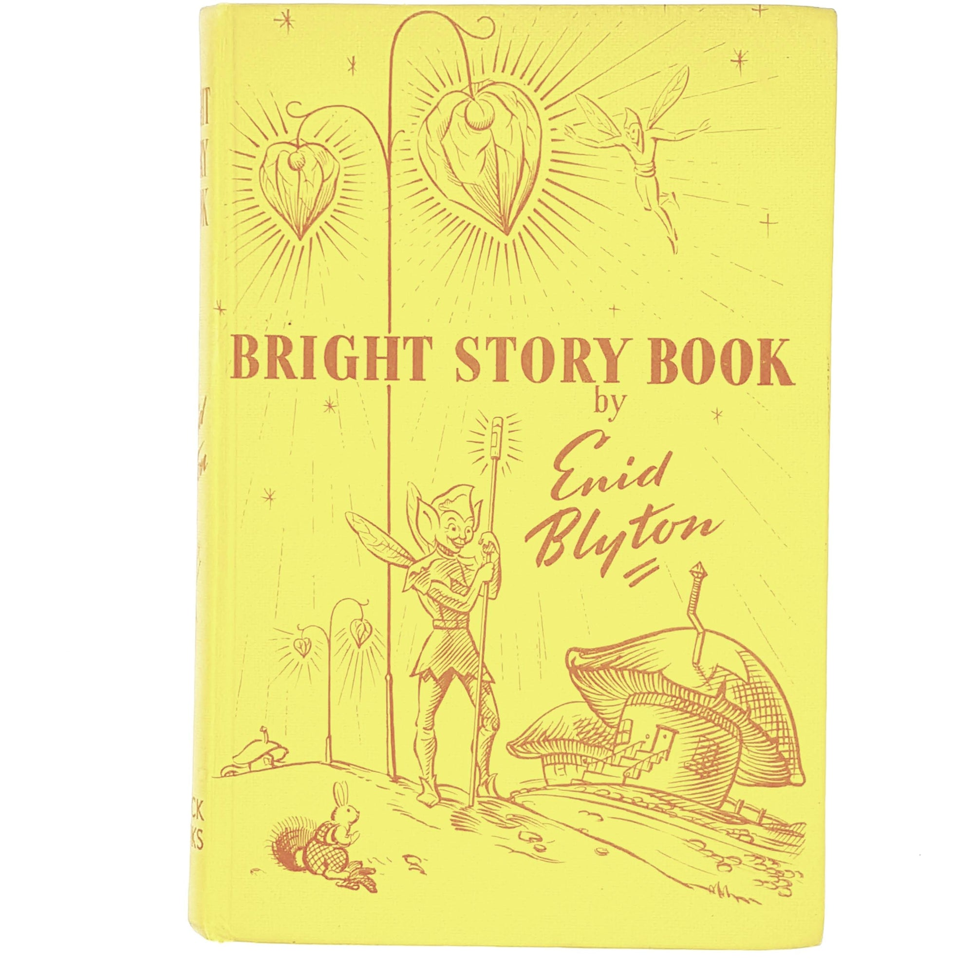 yellow-enid-blyton-vintage-book-country-house-library