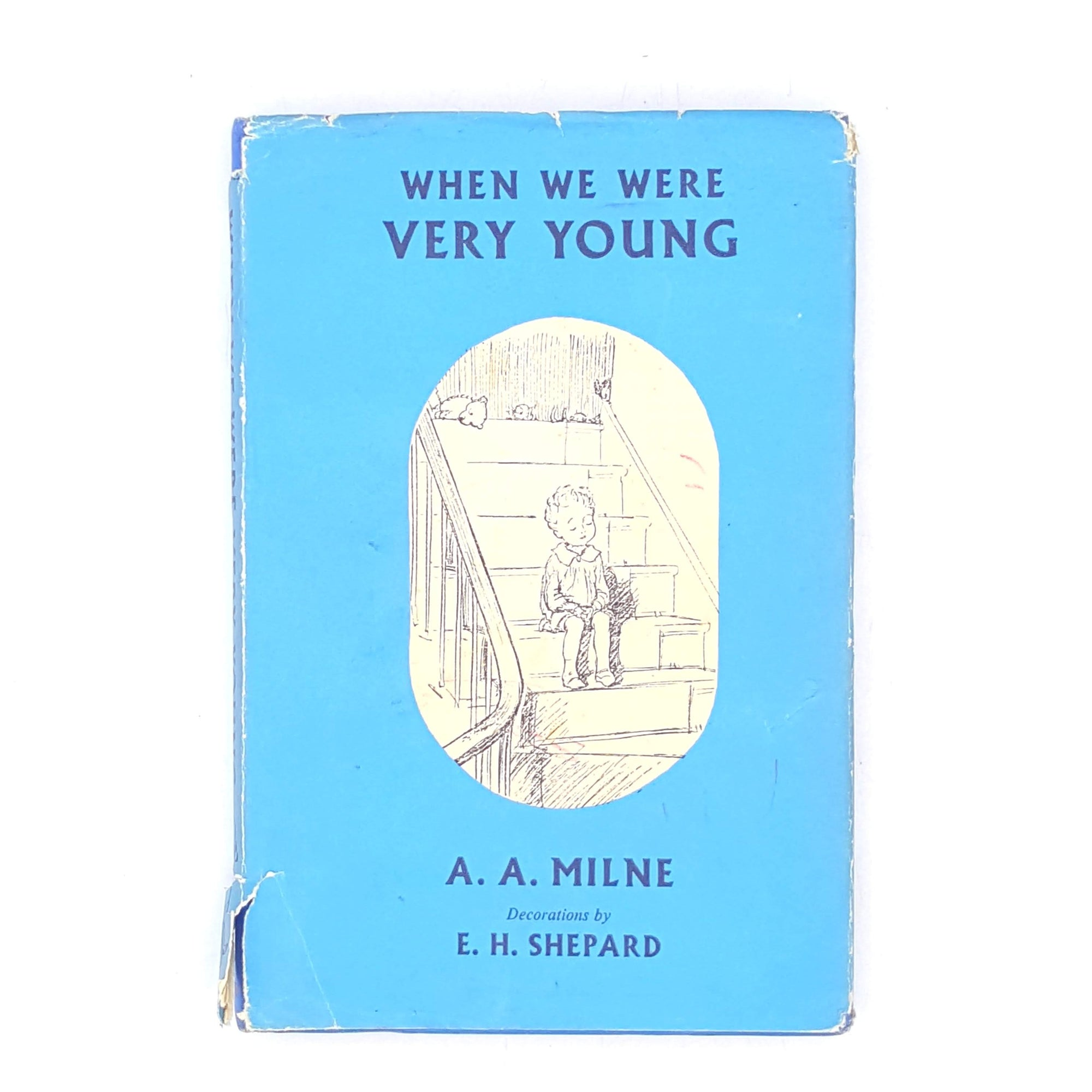 methuen-classics-1960-old-country-house-library-blue-vintage-winnie-poetry-thrift-aamilne-books-