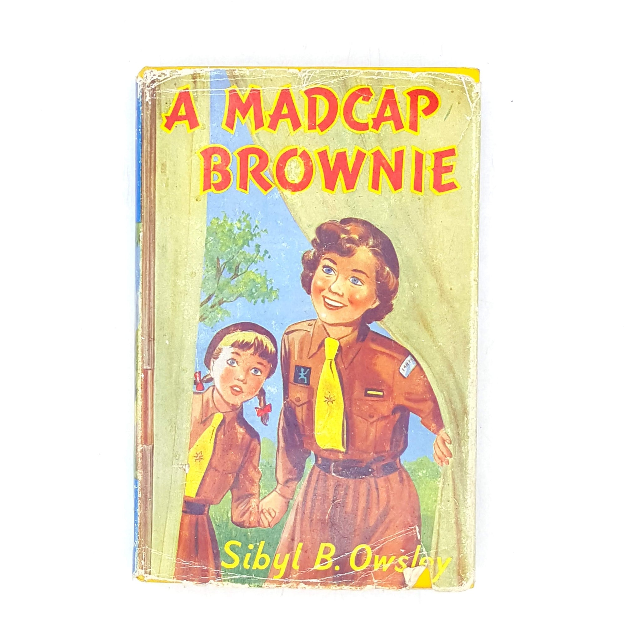 thrift-1956-country-house-library-sybyl-b-owsley-vintage-yellow-childrens-classics-books-madcap-brownie-old-