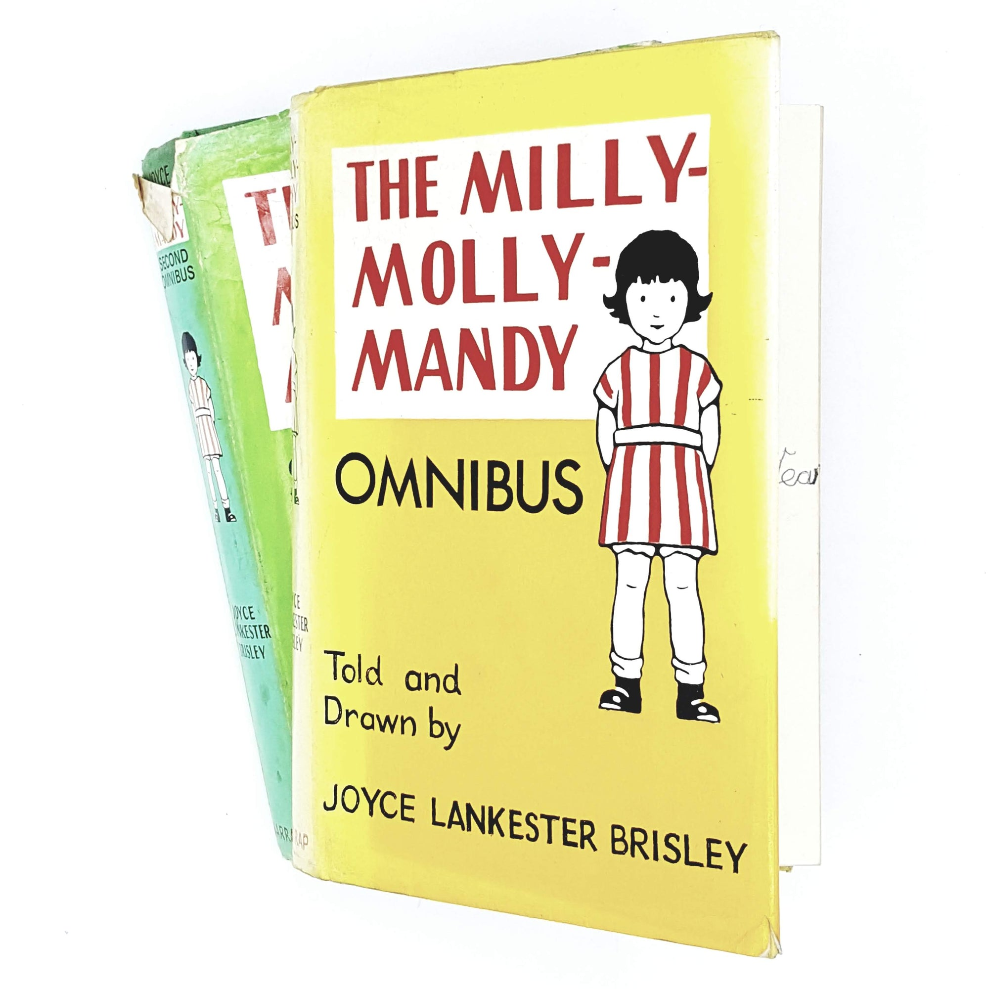 collection-kids-yellow-green-milly-molly-mandy-vintage-book-country-house-library
