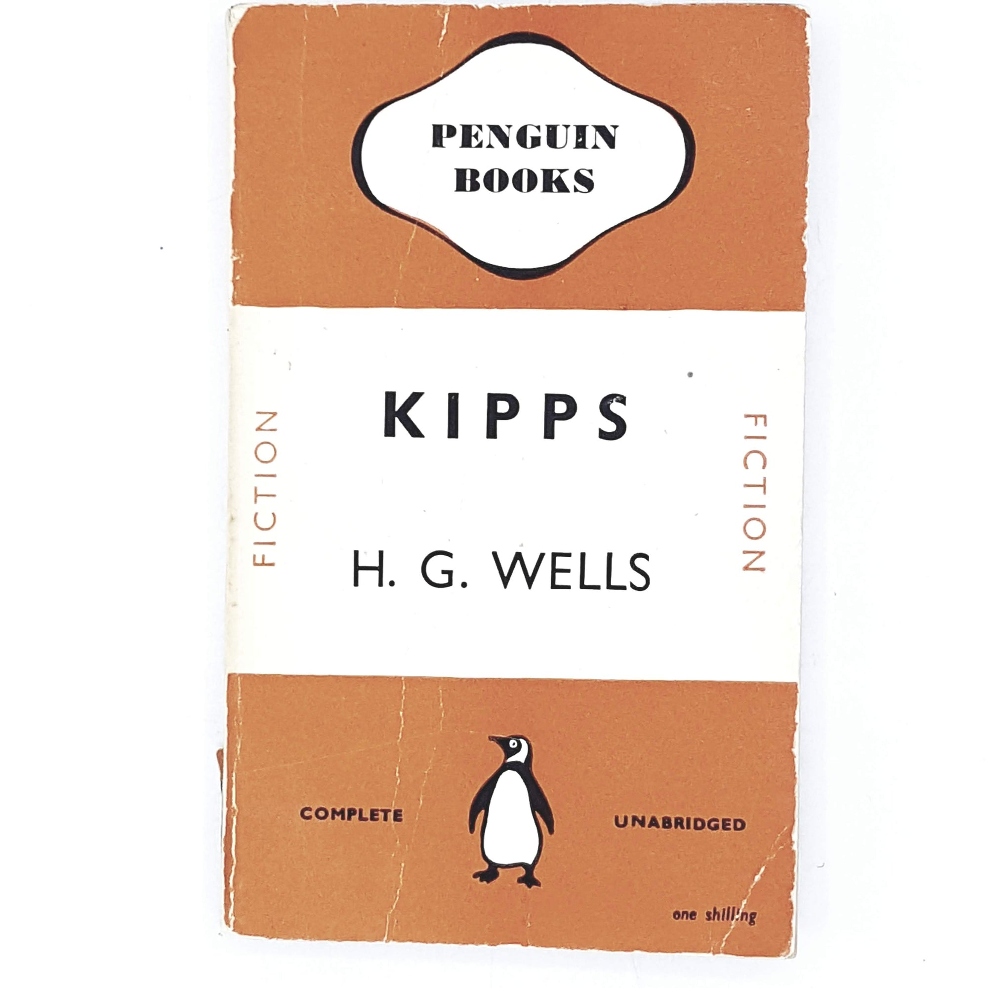 kipps-hg-wells-orange-penguin-vintage-book-country-house-library