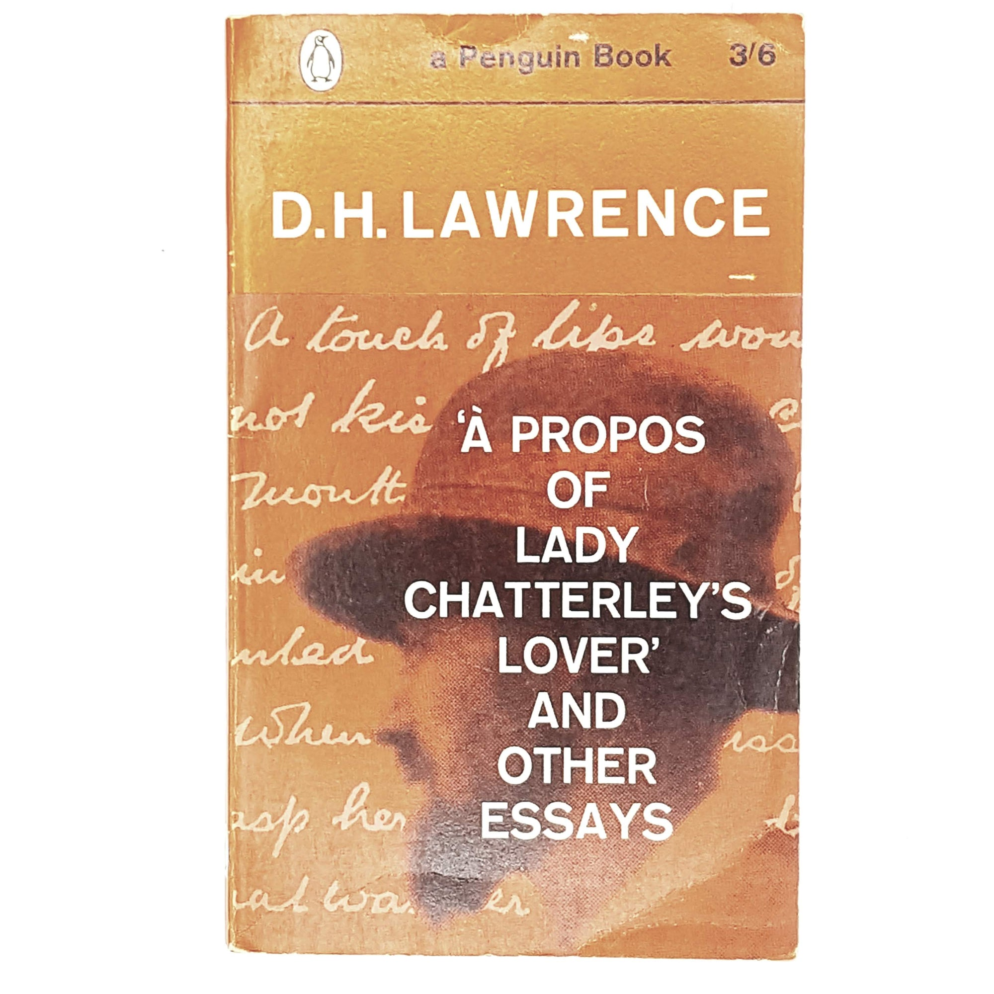 orange-penguin-dh-lawrence-vintage-book-country-house-library