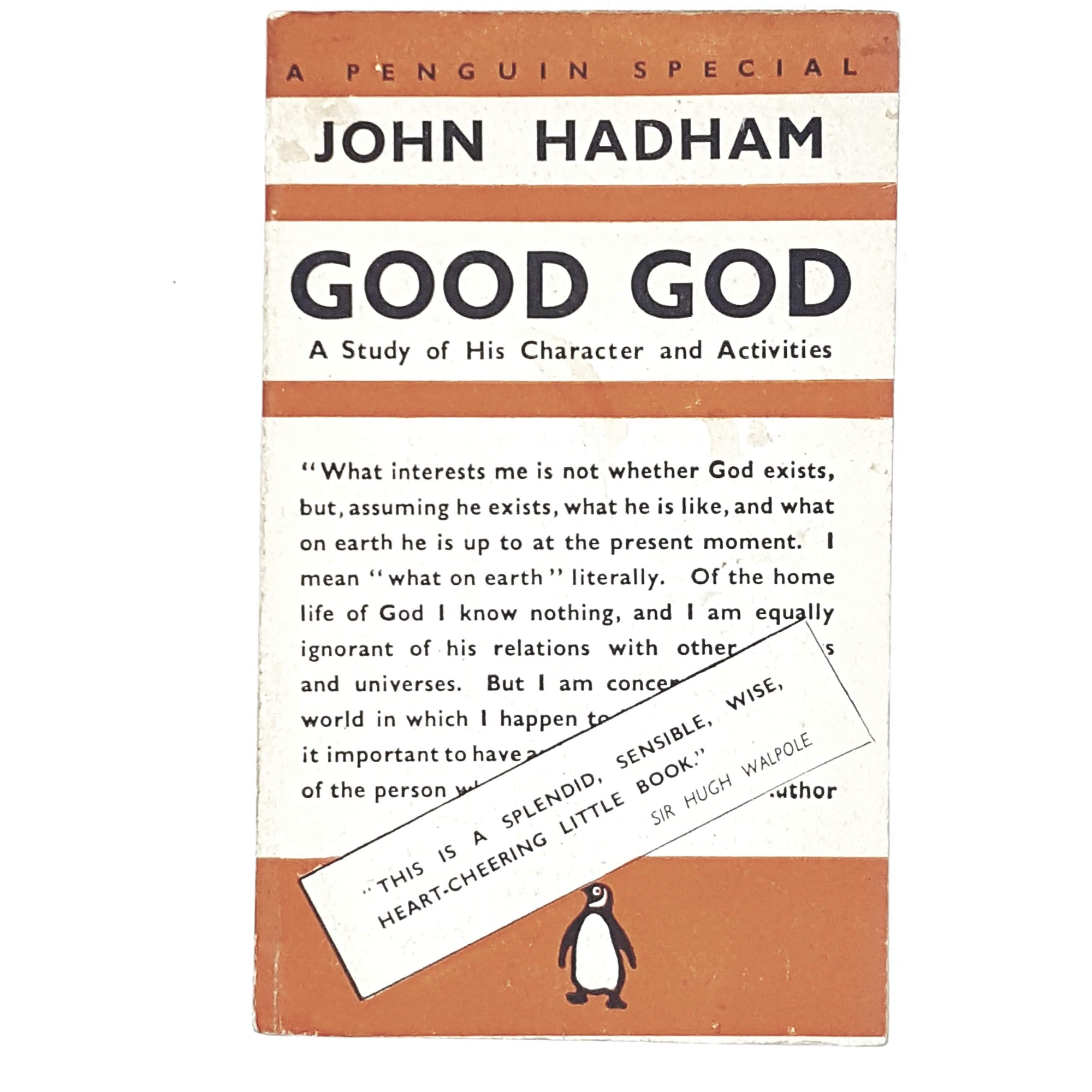 Vintage Penguin John Hadham's Good God 1941