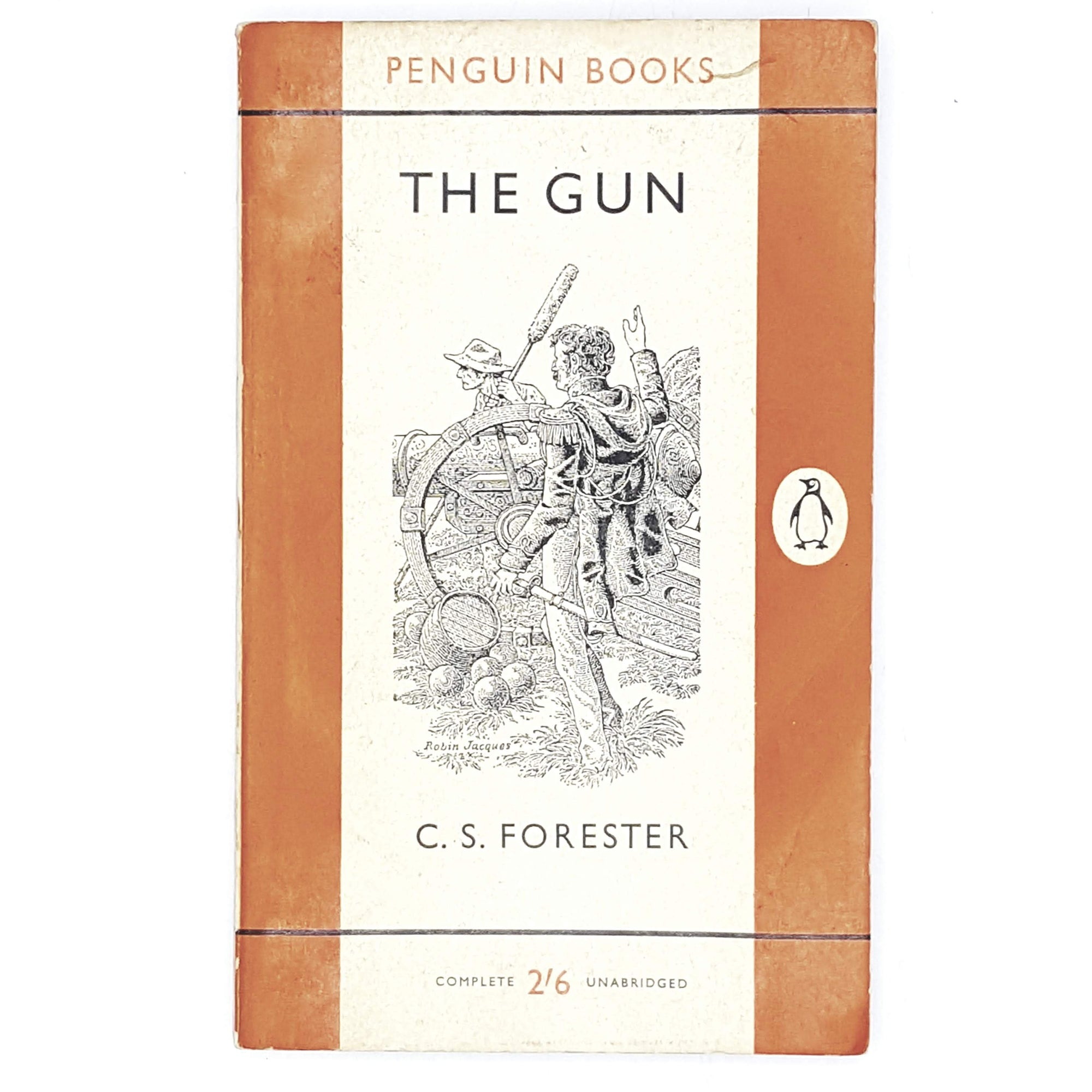 gun-cs-forester-orange-penguin-vintage-book-country-house-library