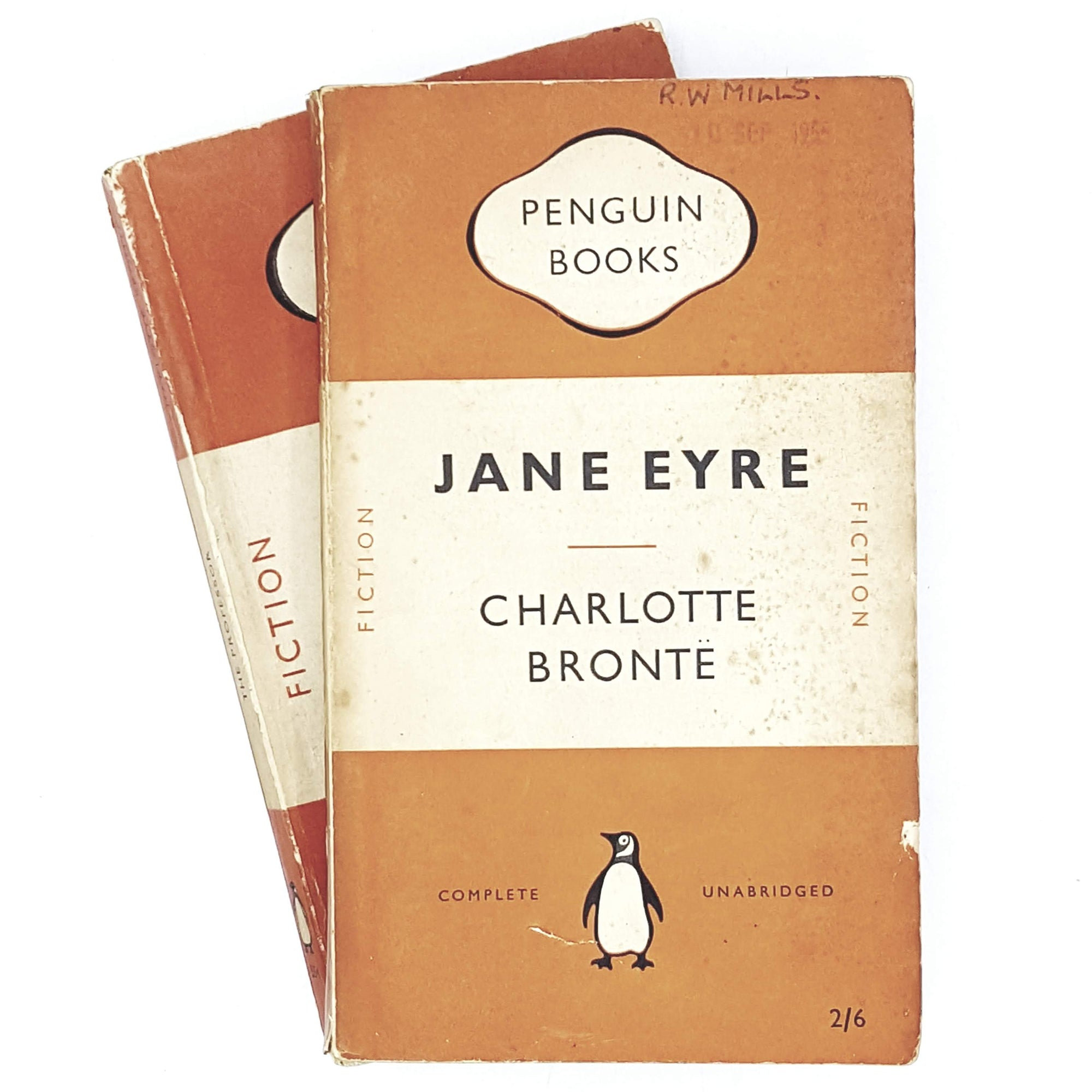 orange-collection-penguin-charlotte-bronte-vintage-book-country-house-library