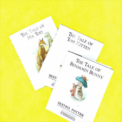 white-illustrated-peter-rabbit-books-old-antique-vintage-collection-thrift-british-mr-tod-beatrix-potter-country-house-library-