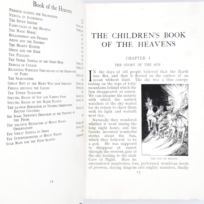 First Edition The Children's Book of The Heavens 1924