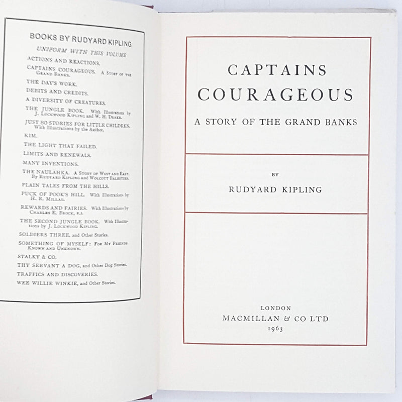 Rudyard Kipling's Captain Courageous 1963
