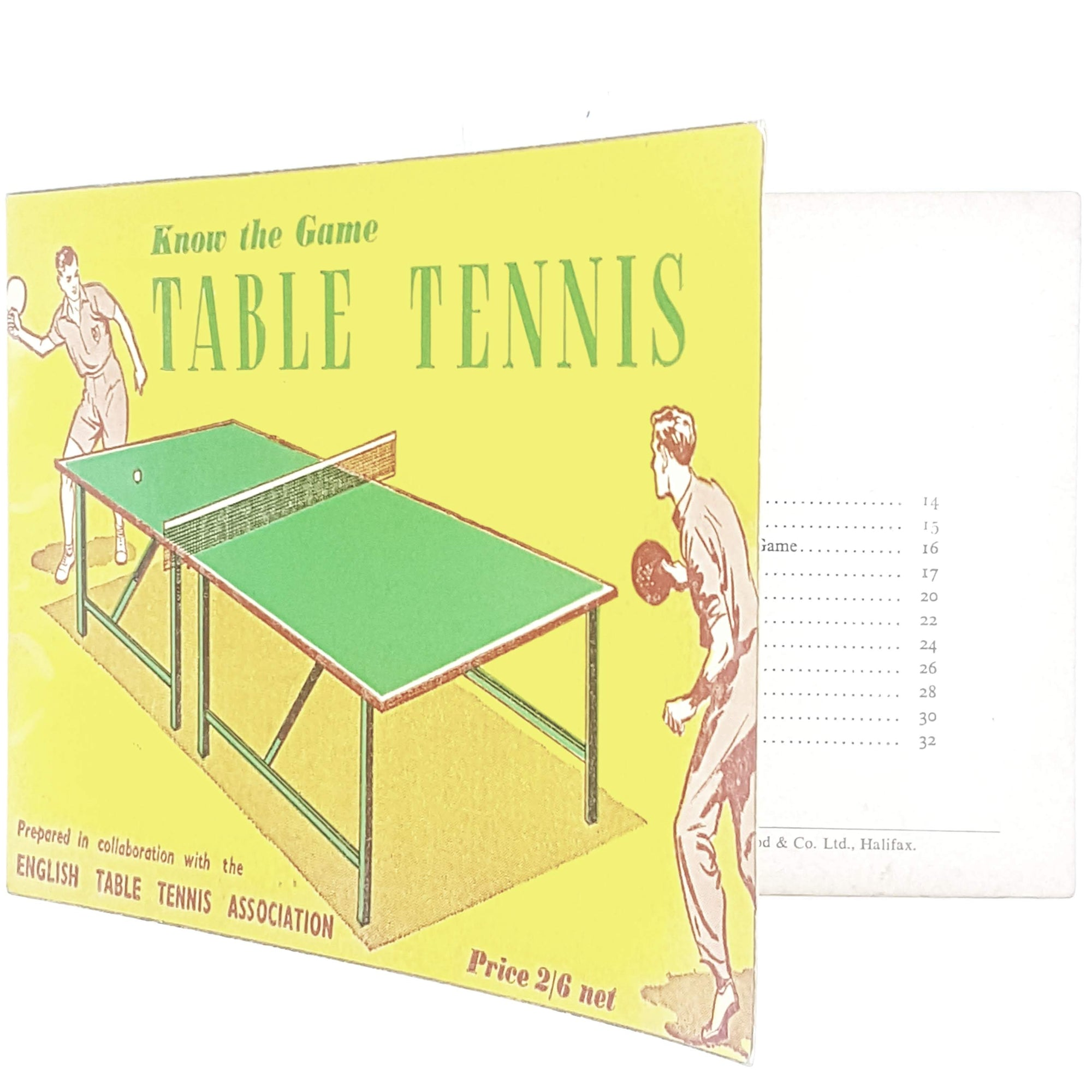Illustrated Table Tennis - Know The Game 1951