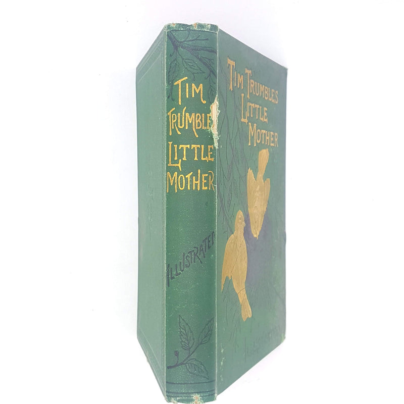 old-gold-gilt-cassell-thrift-patterned-tim-trumbles-little-mother-decorative-green-1883-vintage-country-house-library-classic-cl-mateaux-antique-