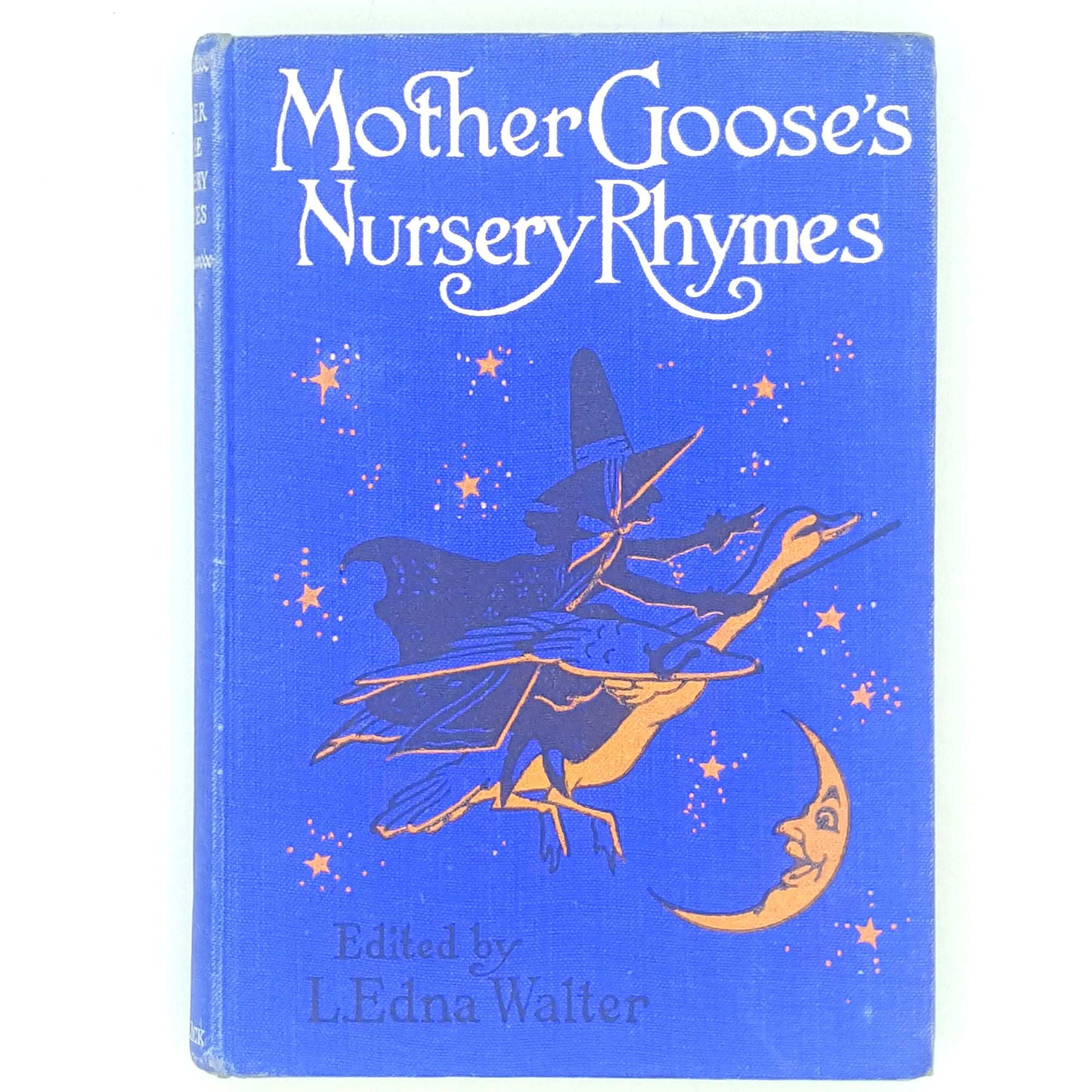 blue-thrift-mother-goose-childrens-country-house-library-decorative-antique-nursery-rhymes-vintage-patterned-old-books-