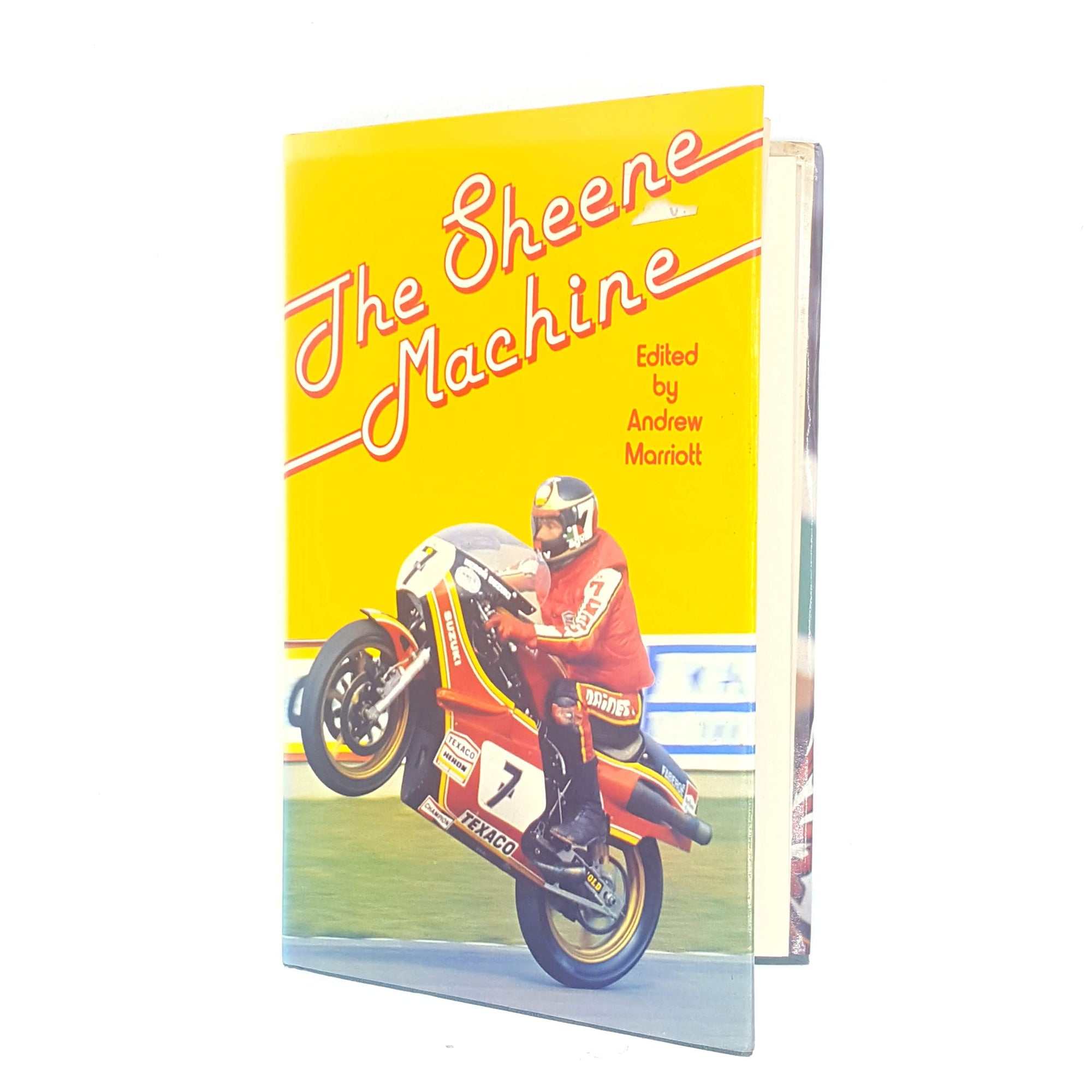 old-vintage-1964-books-racing-sport-patterned-barry-sheene-antique-decorative-sheene-machine-motorcycle-thrift-country-house-library-