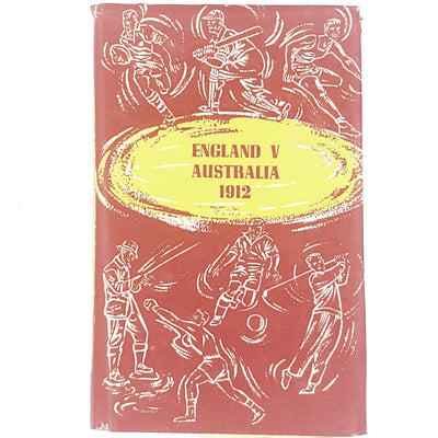 red-england-australia-cricket-vintage-book-country-house-library