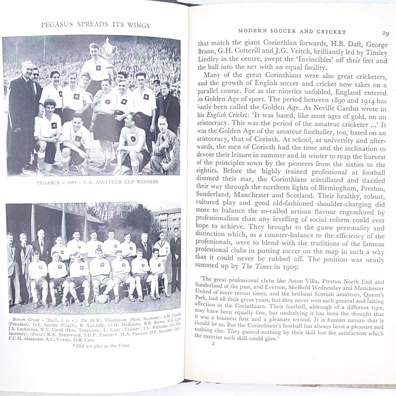 First Edition Corinthians and Cricketers 1957