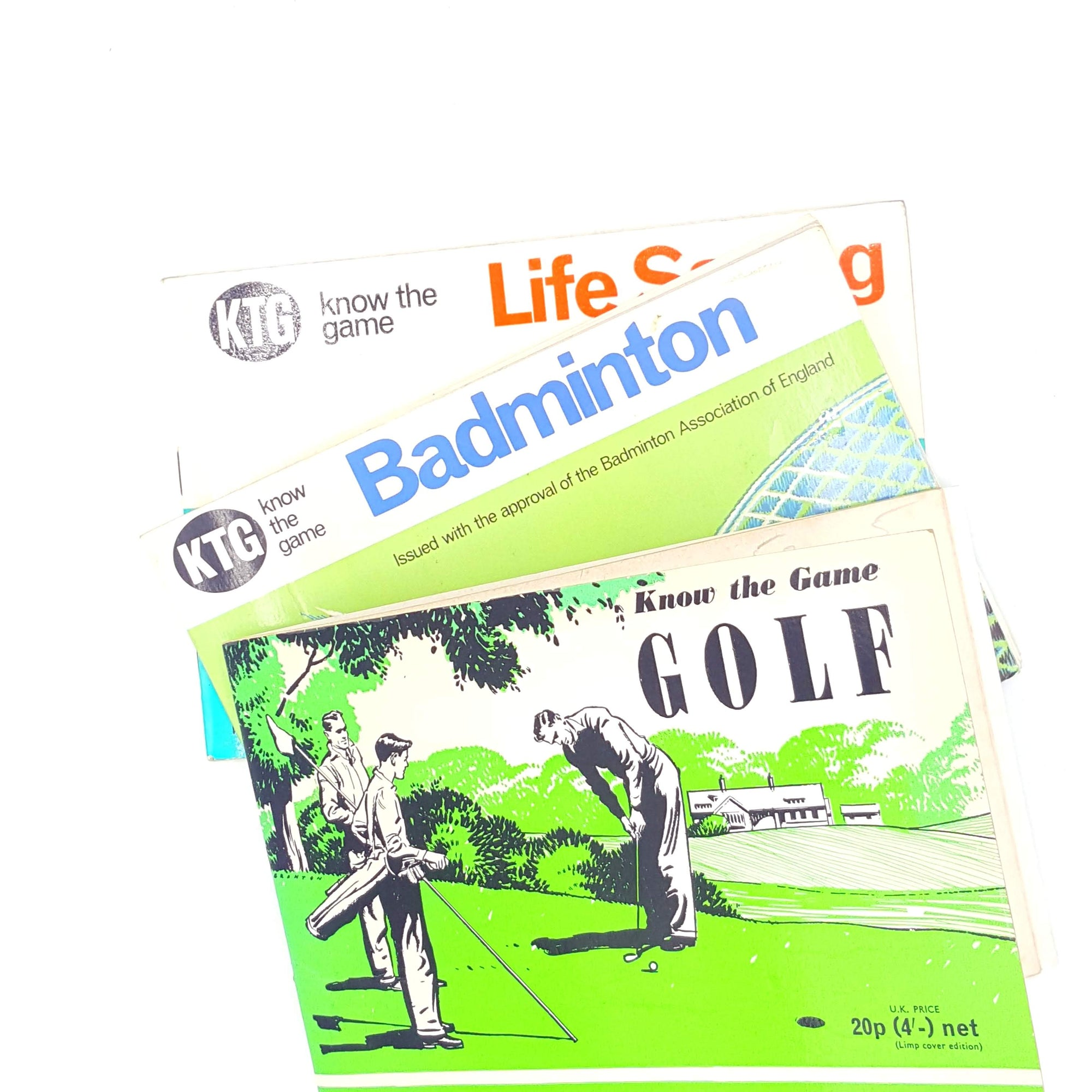 old-know-the-game-country-house-library-thrift-books-vintage-patterned-golf-badminton-decorative-classic-sport-life-saving-antique-