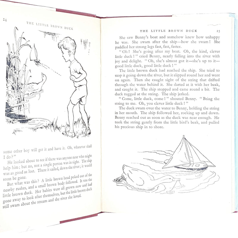 round-clock-enid-blyton-kids-illustrated-vintage-book-country-library-book