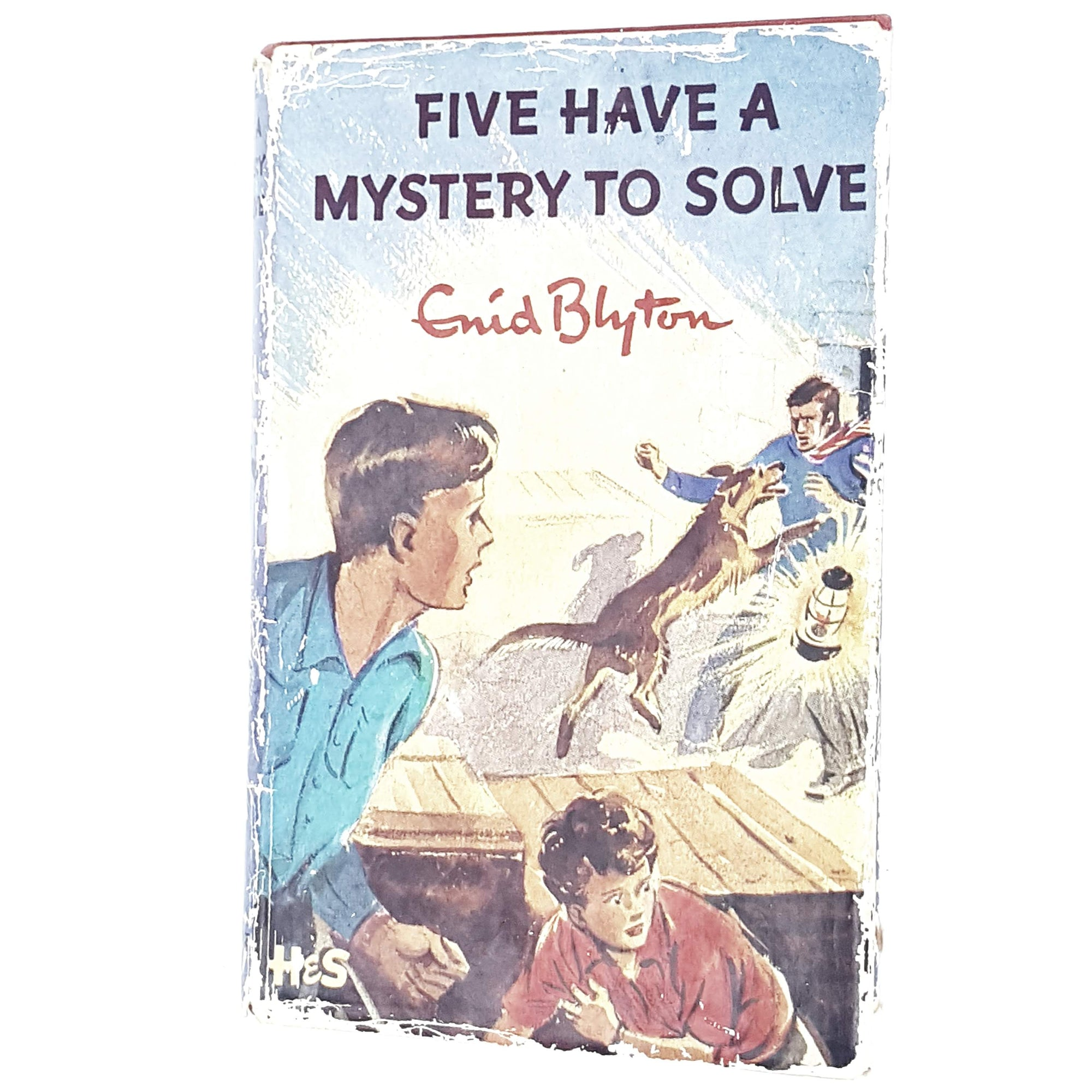 five-mystery-enid-blyton-kids-illustrated-vintage-book-country-library-book