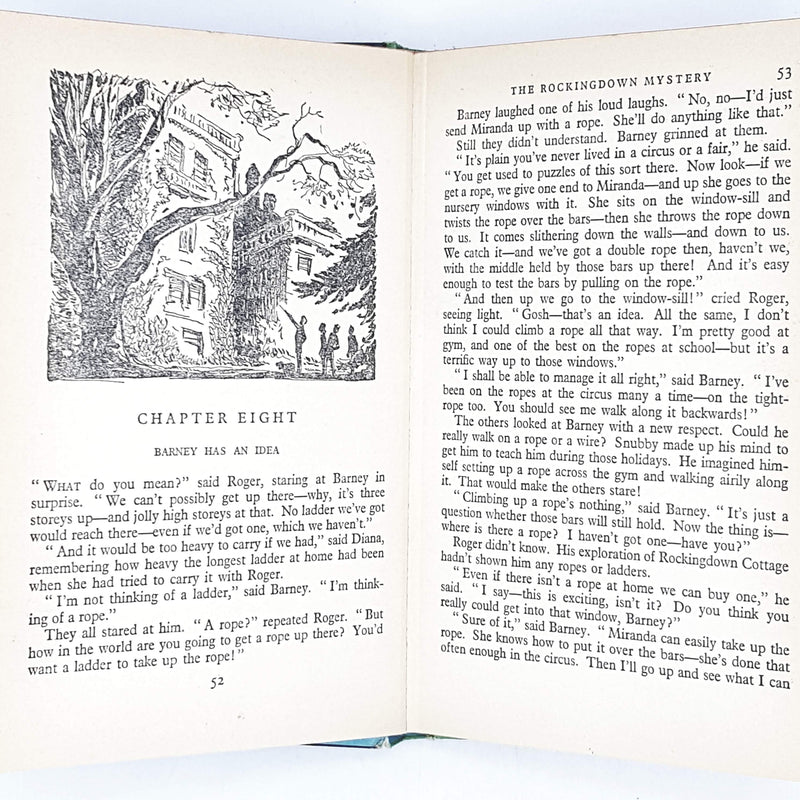 rockingdown-mystery-enid-blyton-kids-illustrated-vintage-book-country-library-book