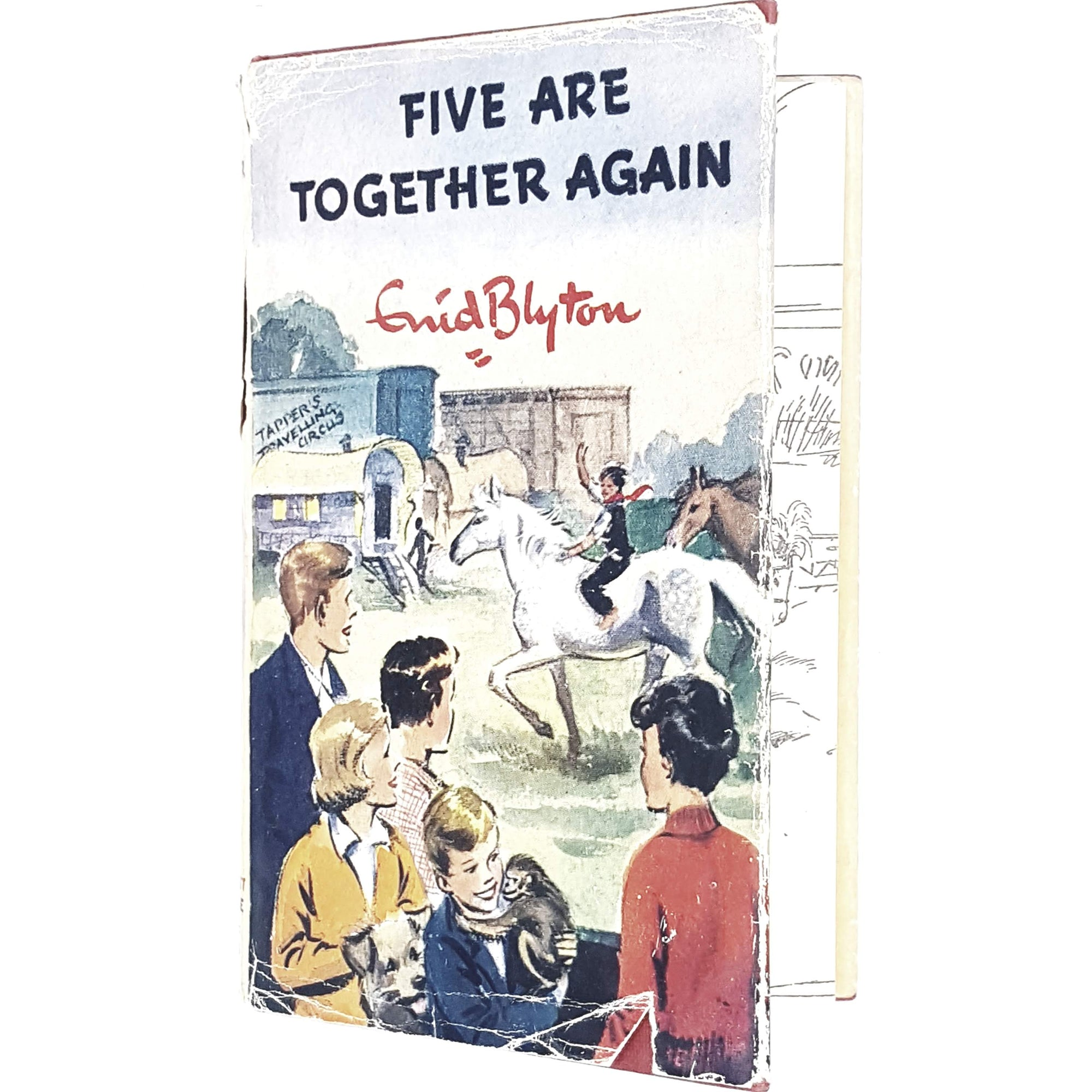 five-together-enid-blyton-kids-illustrated-vintage-book-country-library-book