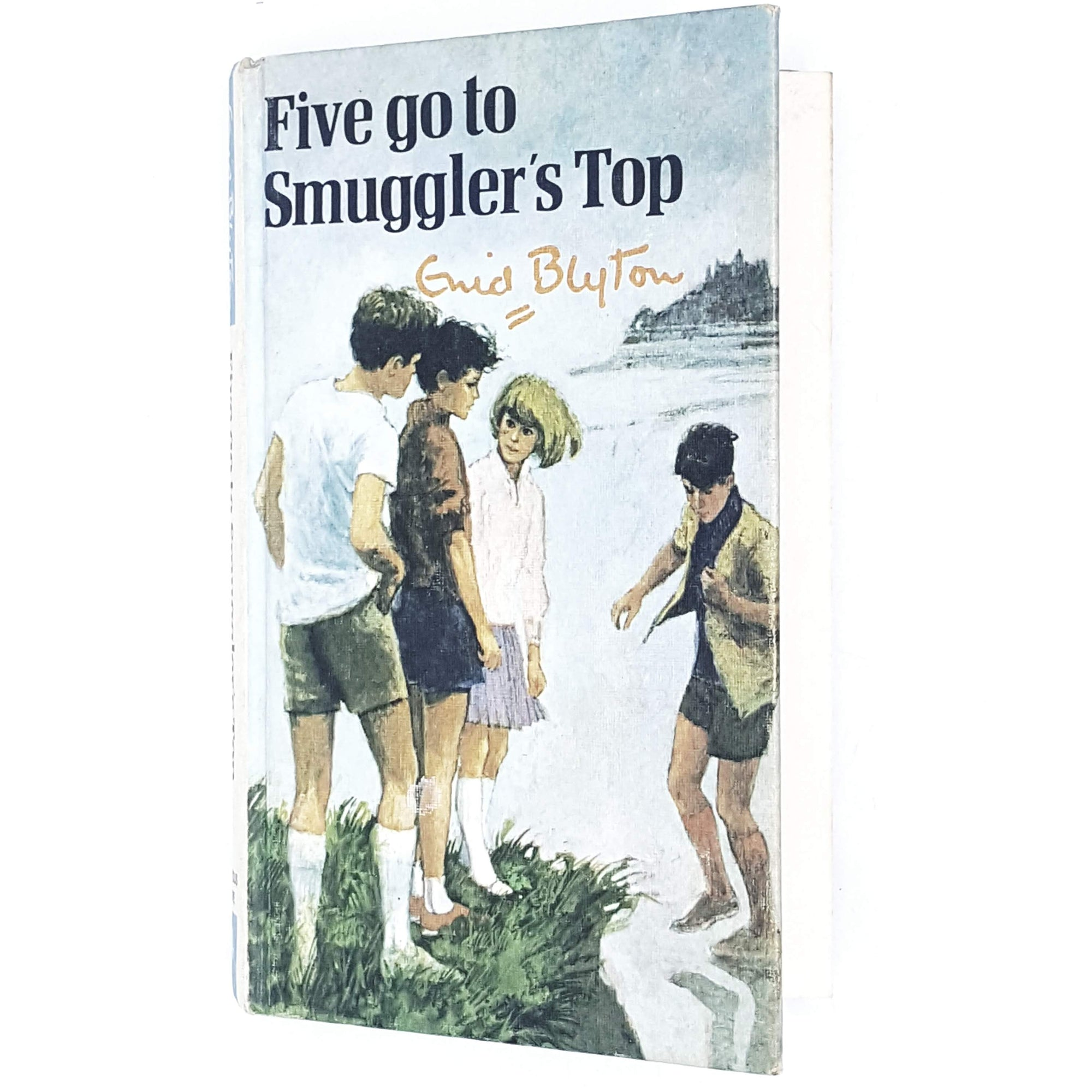 five-top-enid-blyton-kids-illustrated-vintage-book-country-library-book
