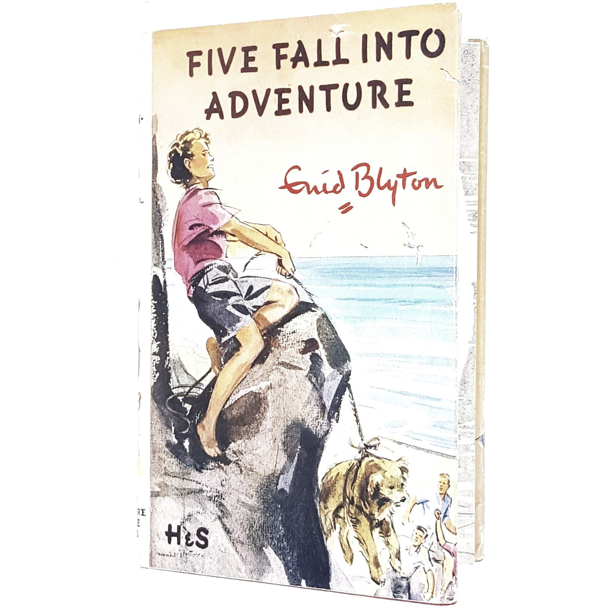 famous-five-enid-blyton-kids-illustrated-vintage-book-country-library-book