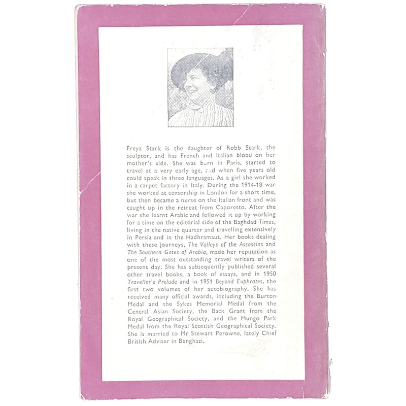 pink-travel-freya-stark-vintage-penguin-country-library-book