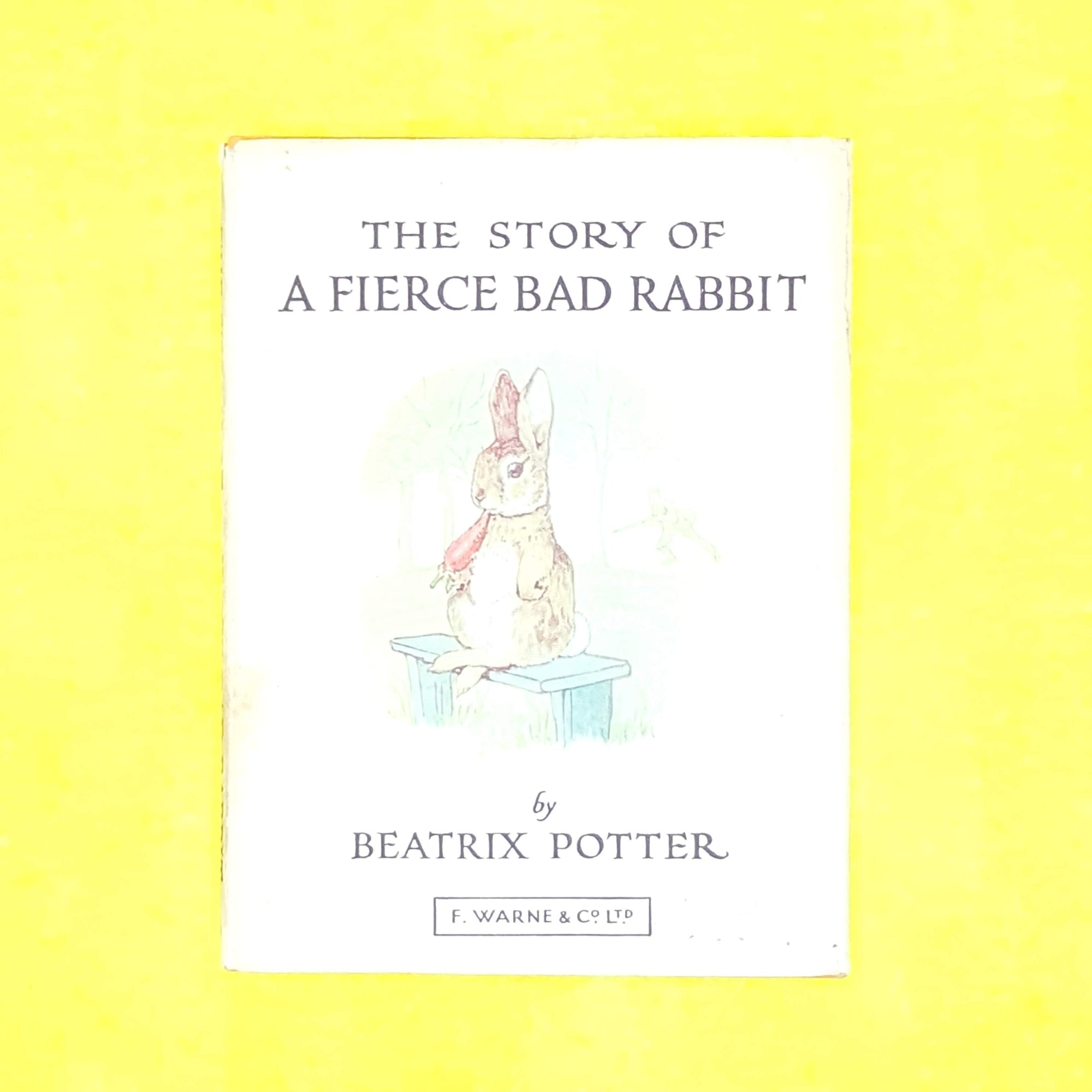 childrens-books-decorative-thrift-patterned-country-house-library-beatrix-potter-antique-old-fierce-bad-rabbit-orange-classic-vintage-