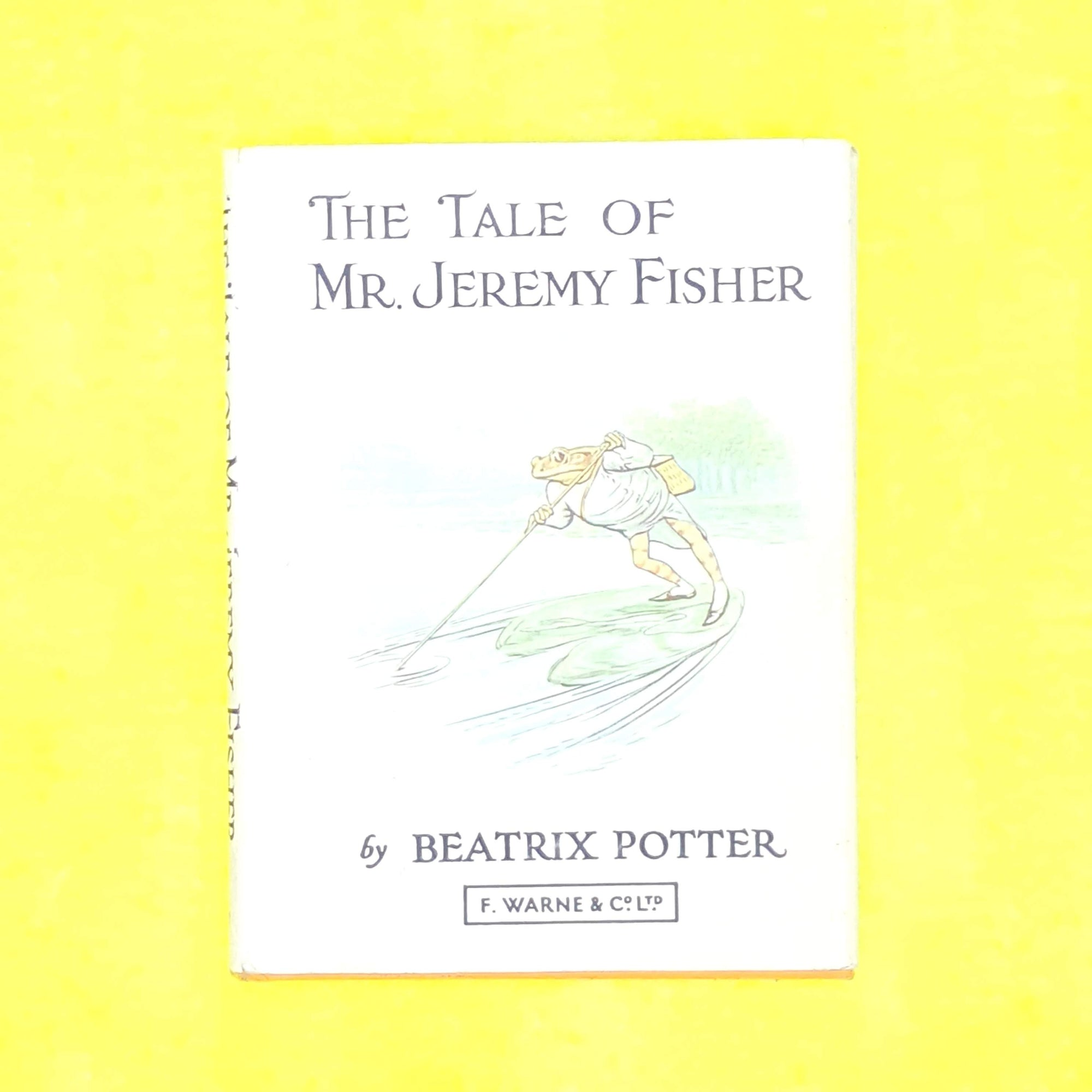 classic-old-thrift-beatrix-potter-jeremy-fisherantique-orange-childrens-country-house-library-vintage-decorative-patterned-books-