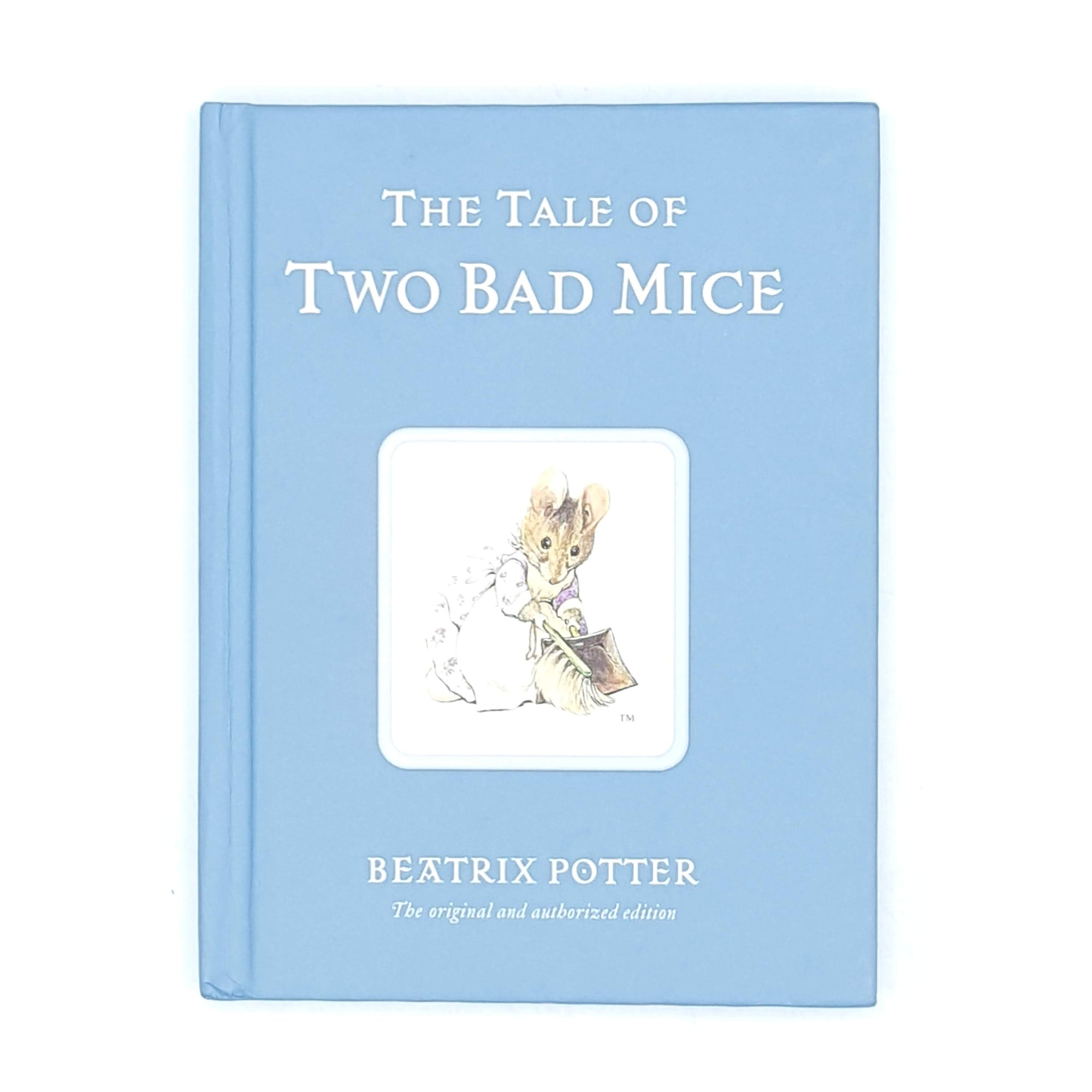 vintage-books-antique-classic-patterned-thrift-decorative-illustrated-country-house-library-old-beatrix-potter-two-bad-mice-blue-childrens-