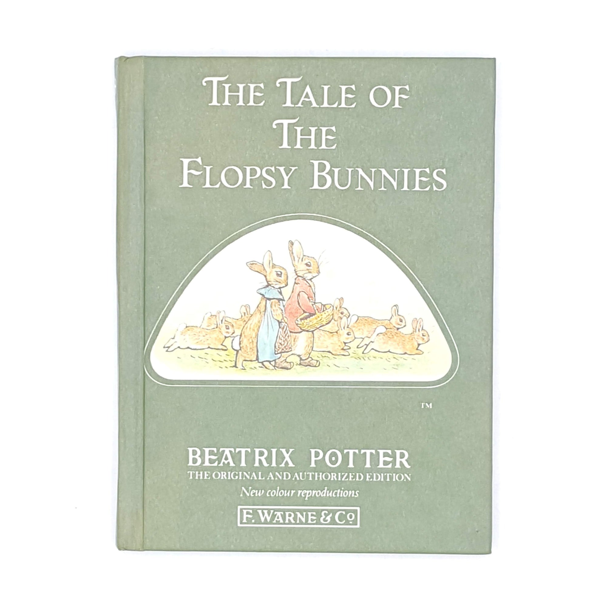 green-beatrix-potter-country-house-library-flopsy-bunnies-childrens-antique-classic-decorative-books-old-thrift-vintage-patterned-