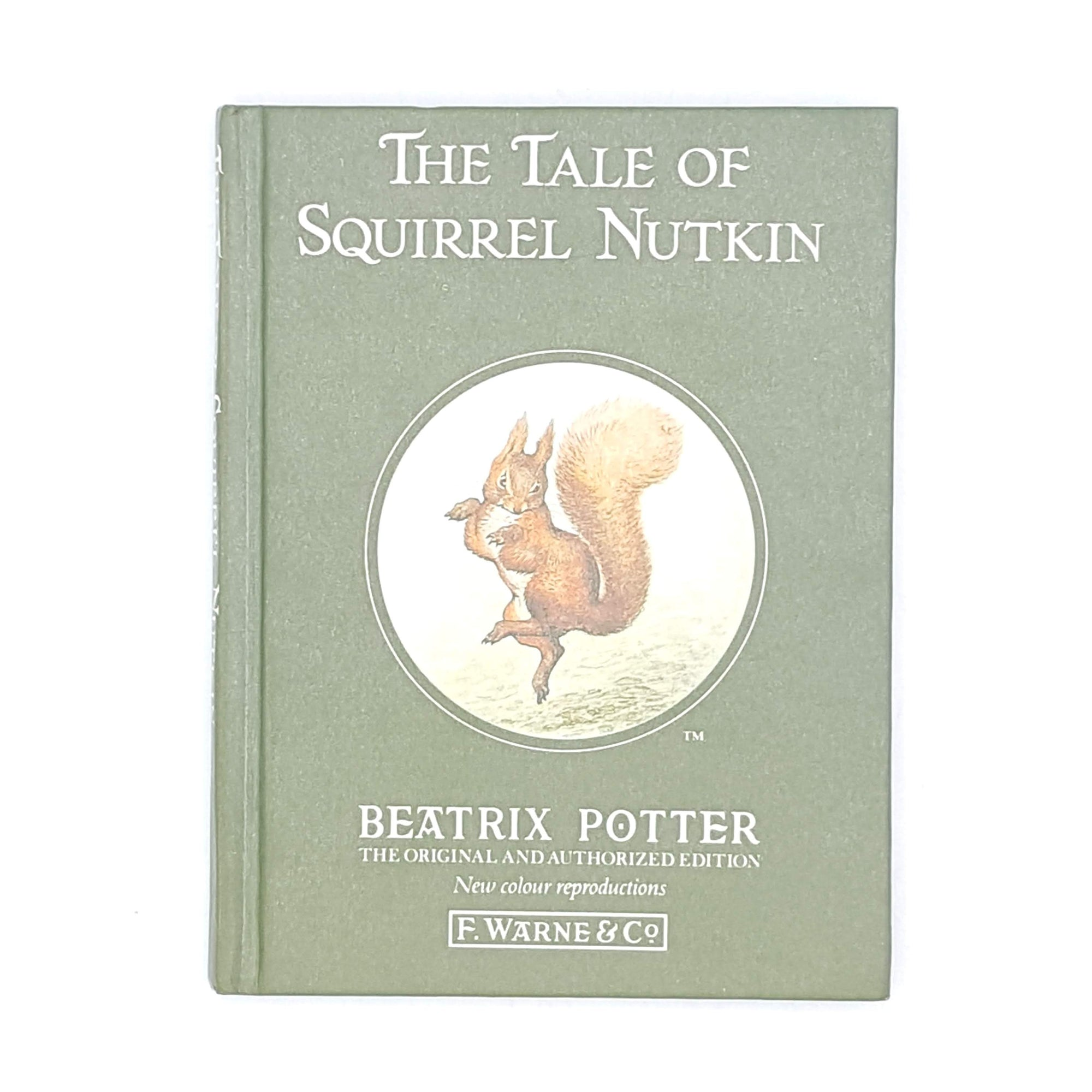 Beatrix Potter's The Tale of Squirrel Nutkin, green cover