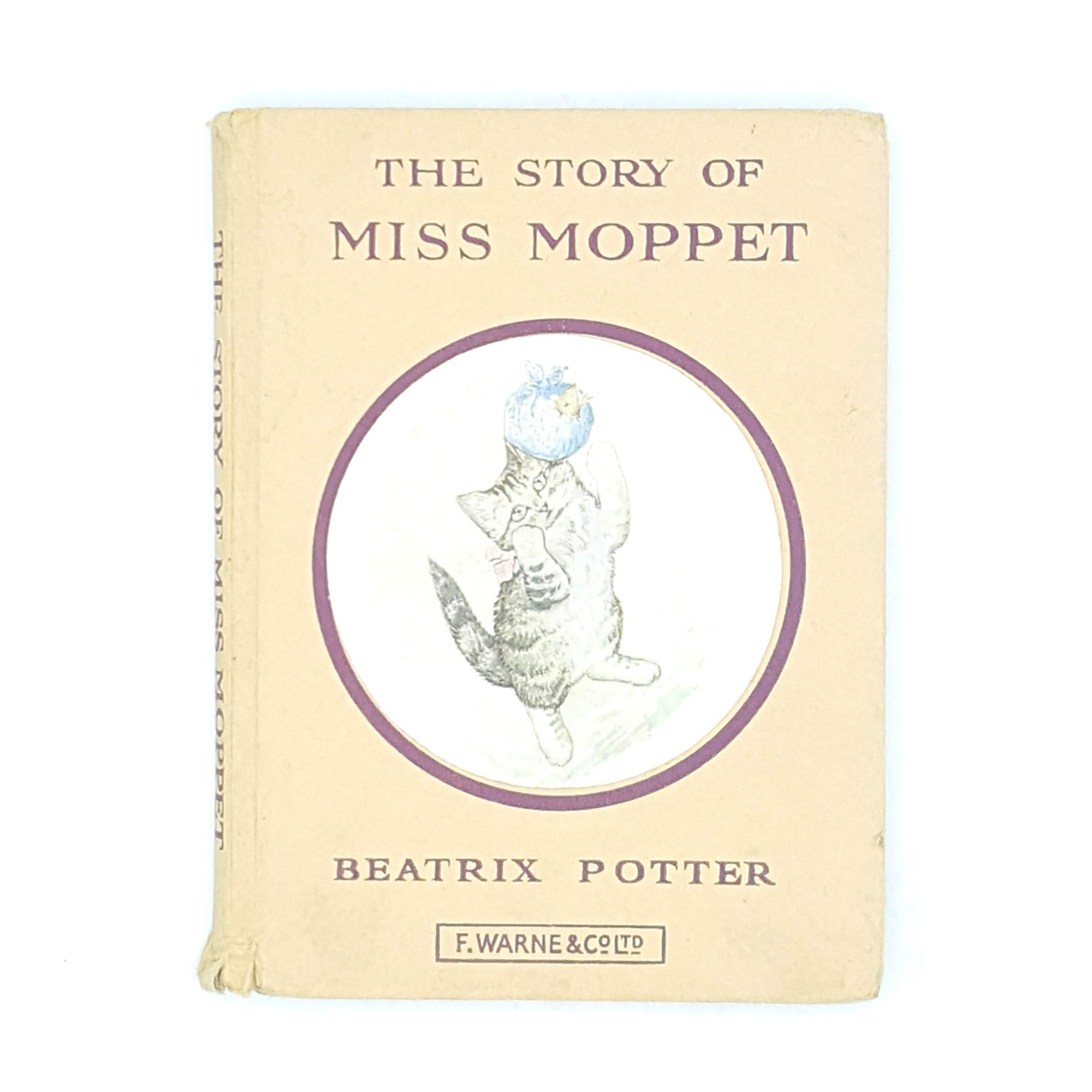 Beatrix Potter's The Story of Miss Moppet, beige cover