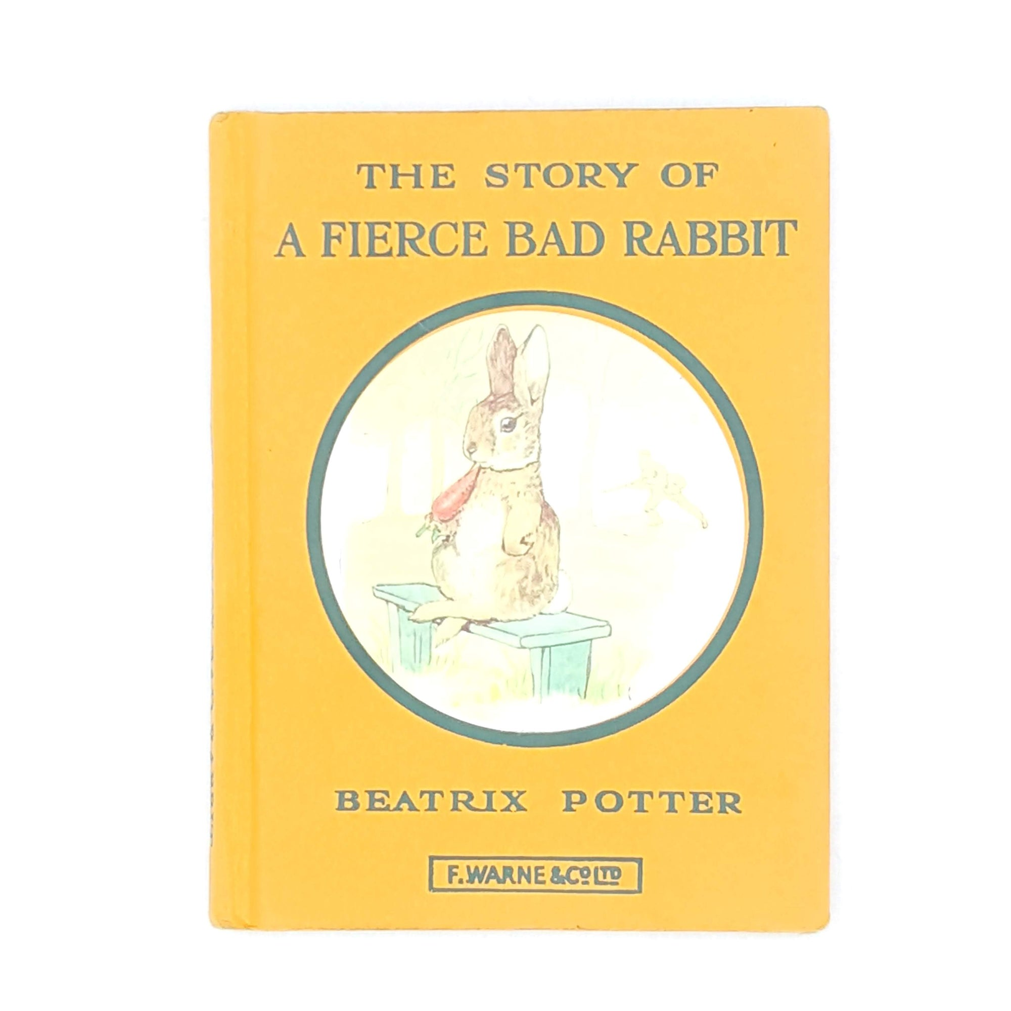 Beatrix Potter's The Story of a Fierce Bad Rabbit, orange cover