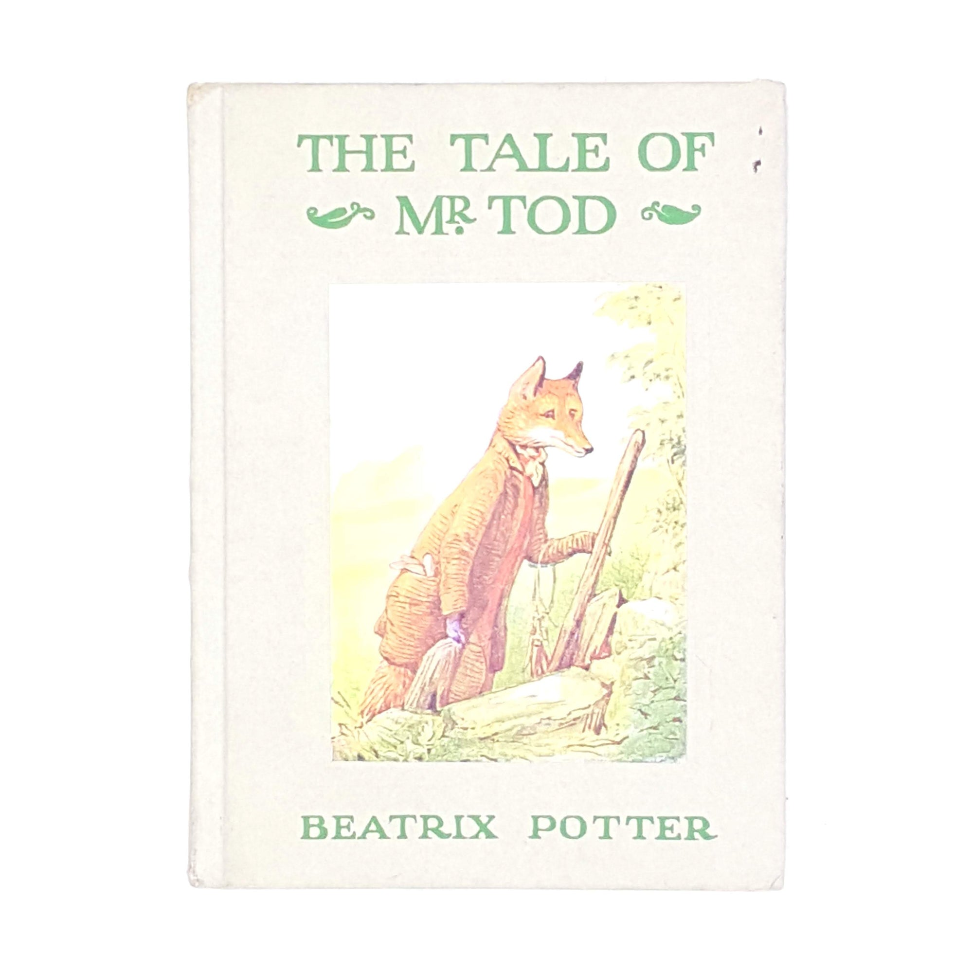 beatrix-potter-patterned-country-house-library-books-vintage-thrift-old-antique-tale-of-mr-tod-grey-decorative-classic-childrens-