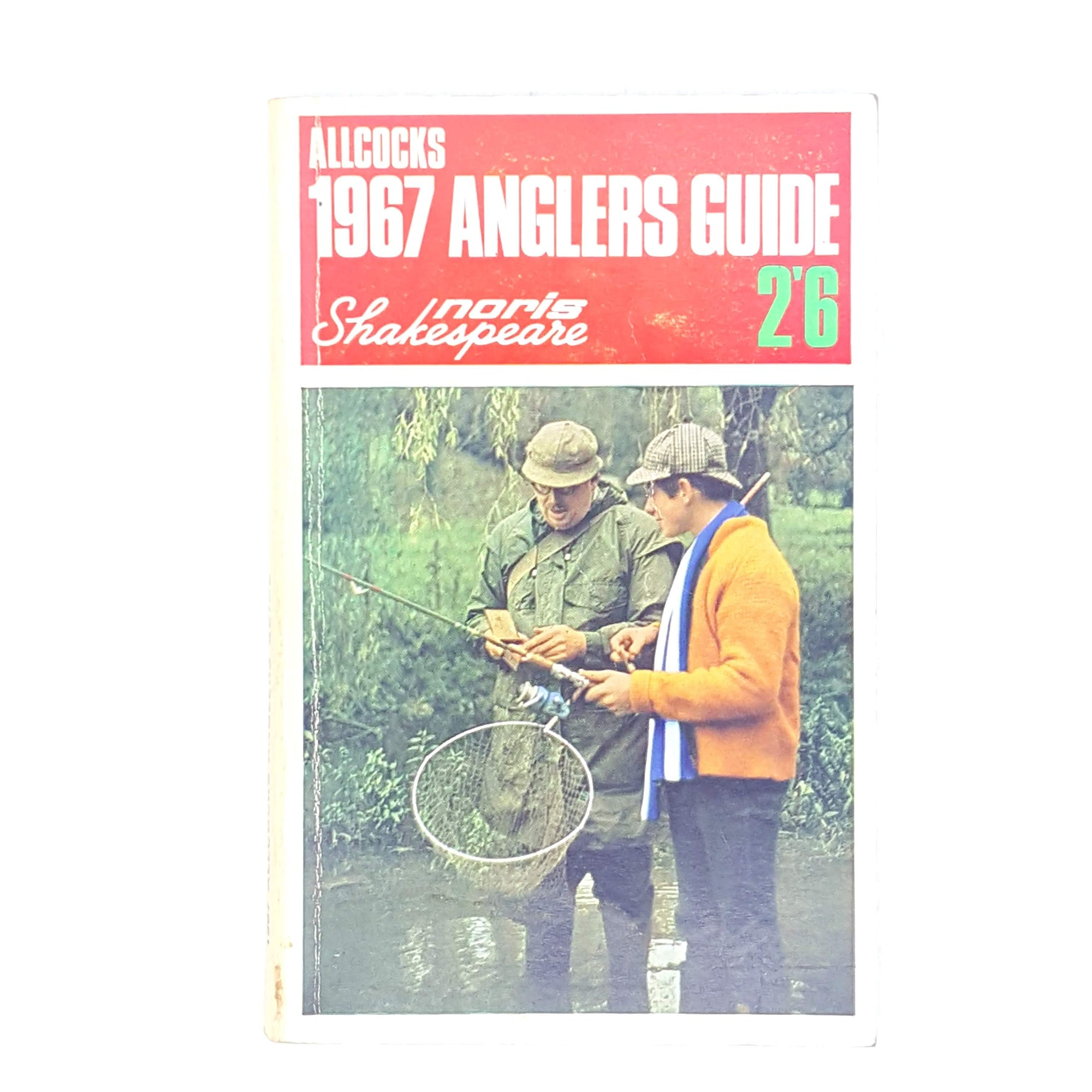 classic-antique-old-decorative-allcocks-anglers-guide-country-house-library-sport-vintage-patterned-fishing-anglers-handbook-angling-thrift-books-