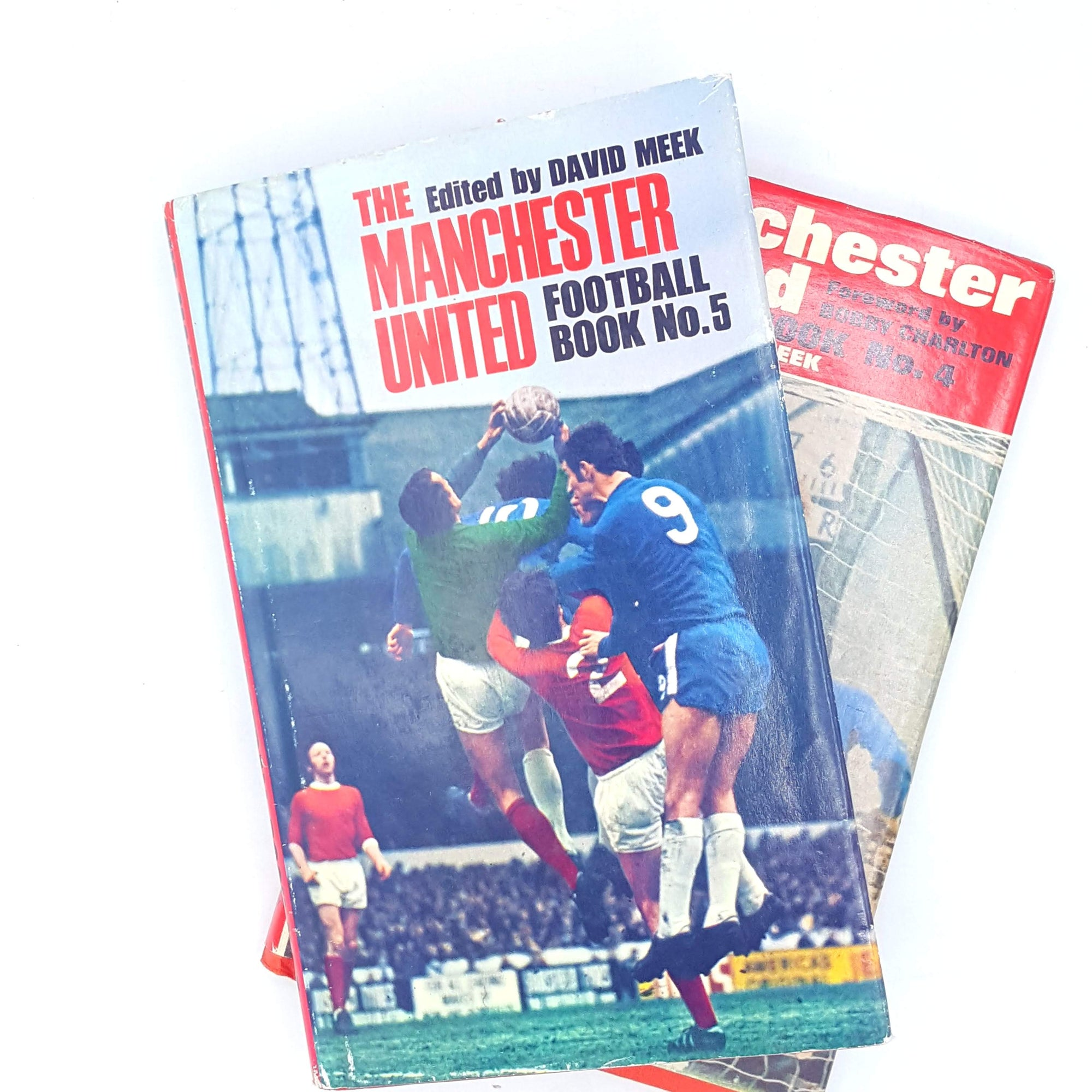 Vintage Manchester United Football Book Collection