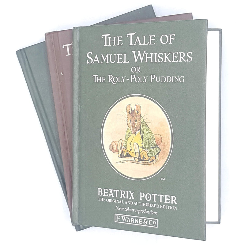 collection-brown-green-beatrix-potter-illustrated-vintage-book-country-house-library