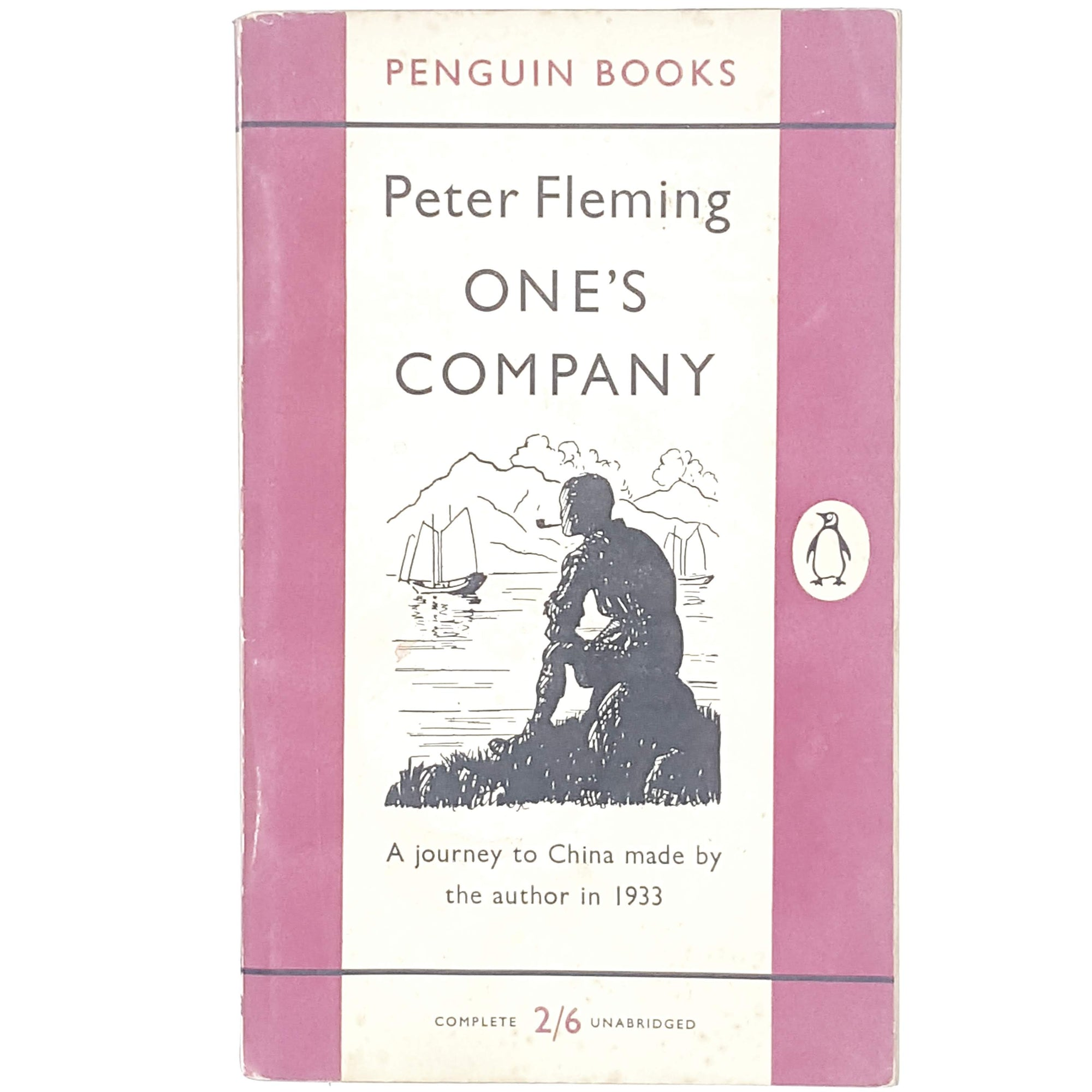 pink-peter-fleming-vintage-penguin-country-library-book